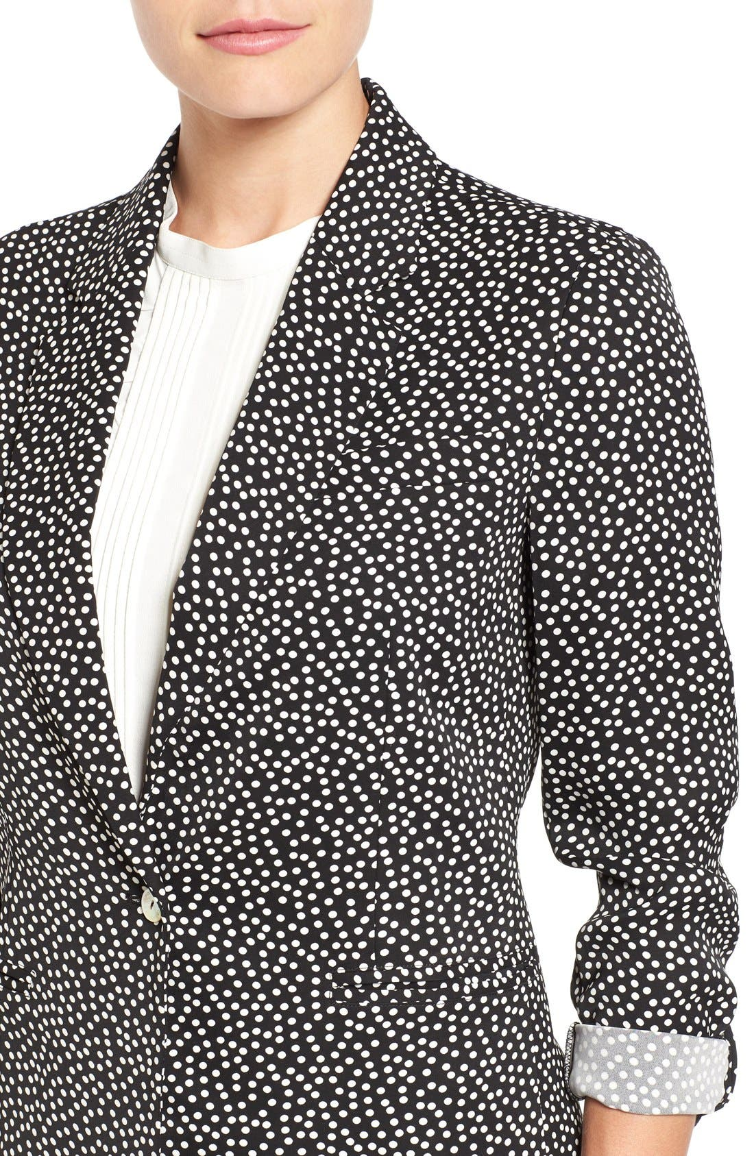 Dot Print Blazer,                             Alternate thumbnail 4, color,                             001