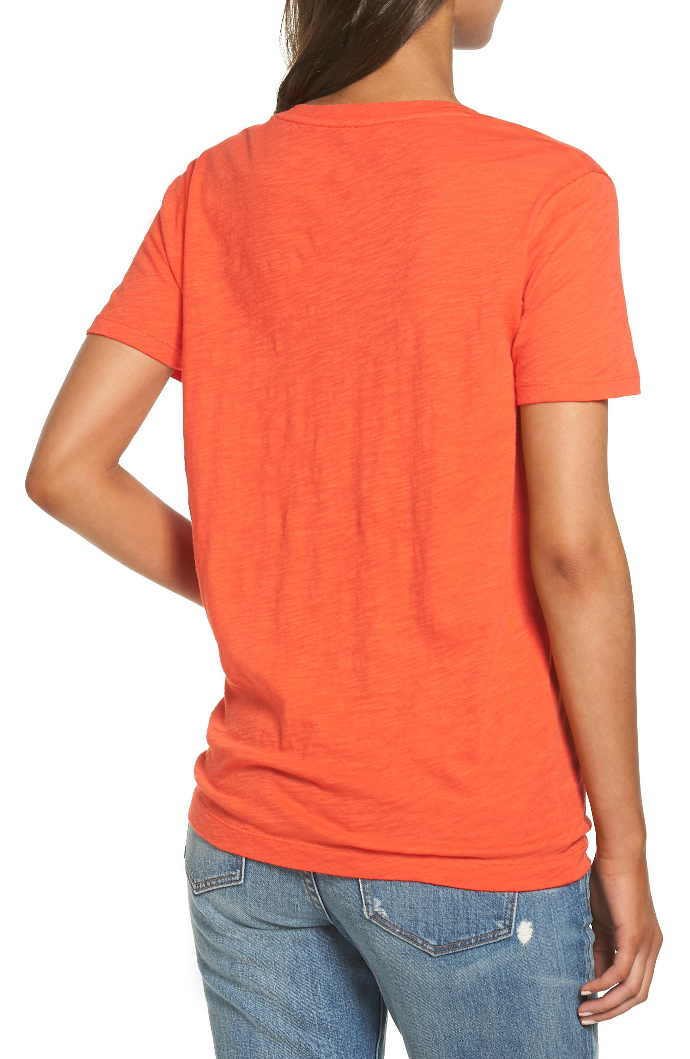Whisper Cotton V-Neck Pocket Tee,                             Alternate thumbnail 75, color,