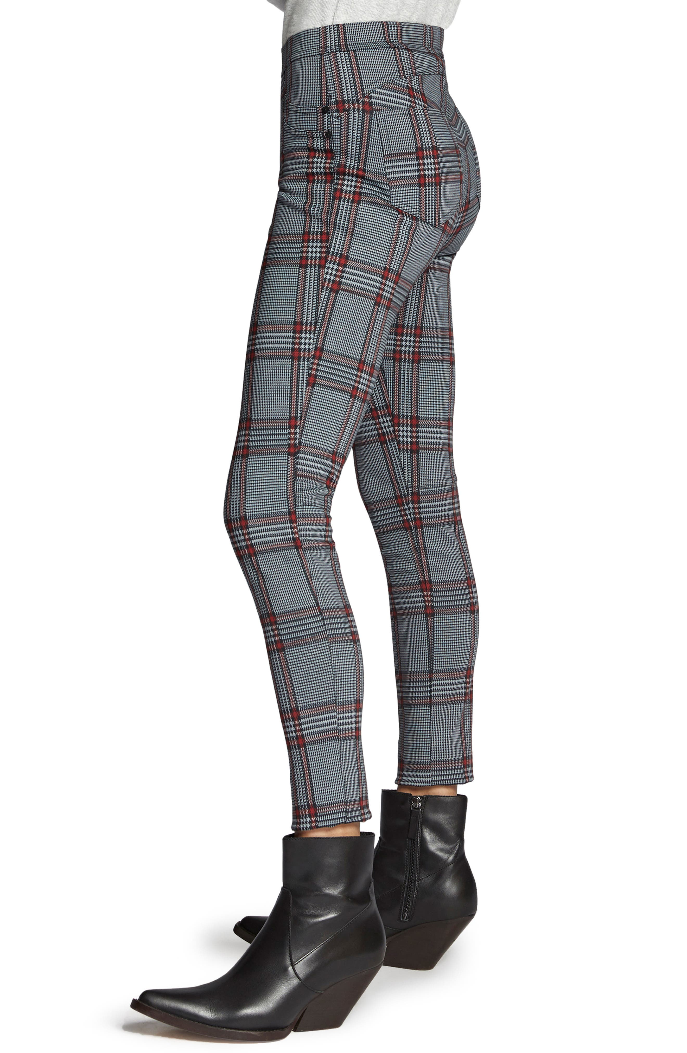 SANCTUARY,                             Grease Plaid Leggings,                             Alternate thumbnail 3, color,                             020