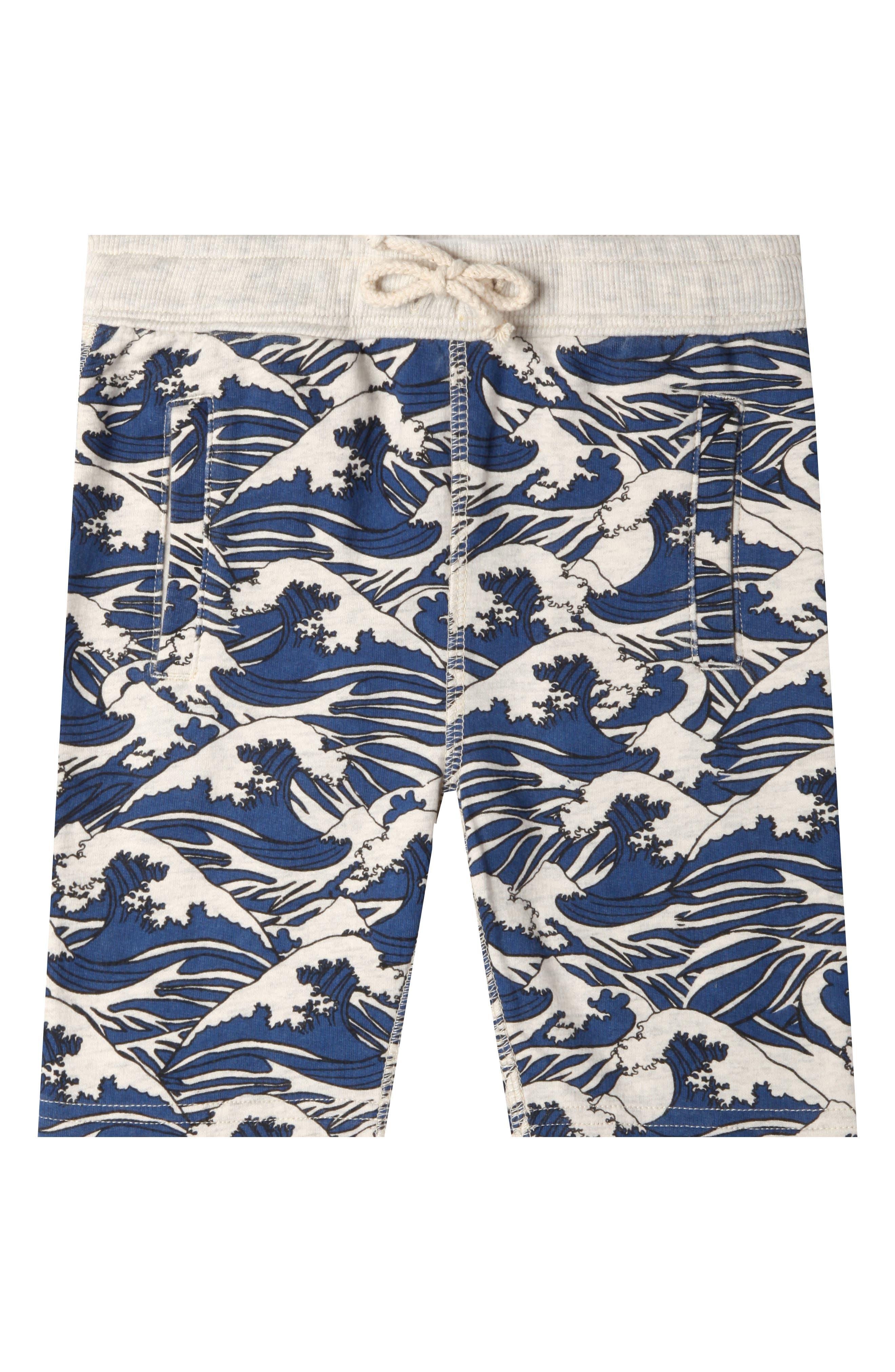 Lucas Waves Organic Cotton Shorts,                             Main thumbnail 1, color,                             OATMEAL HEATHER