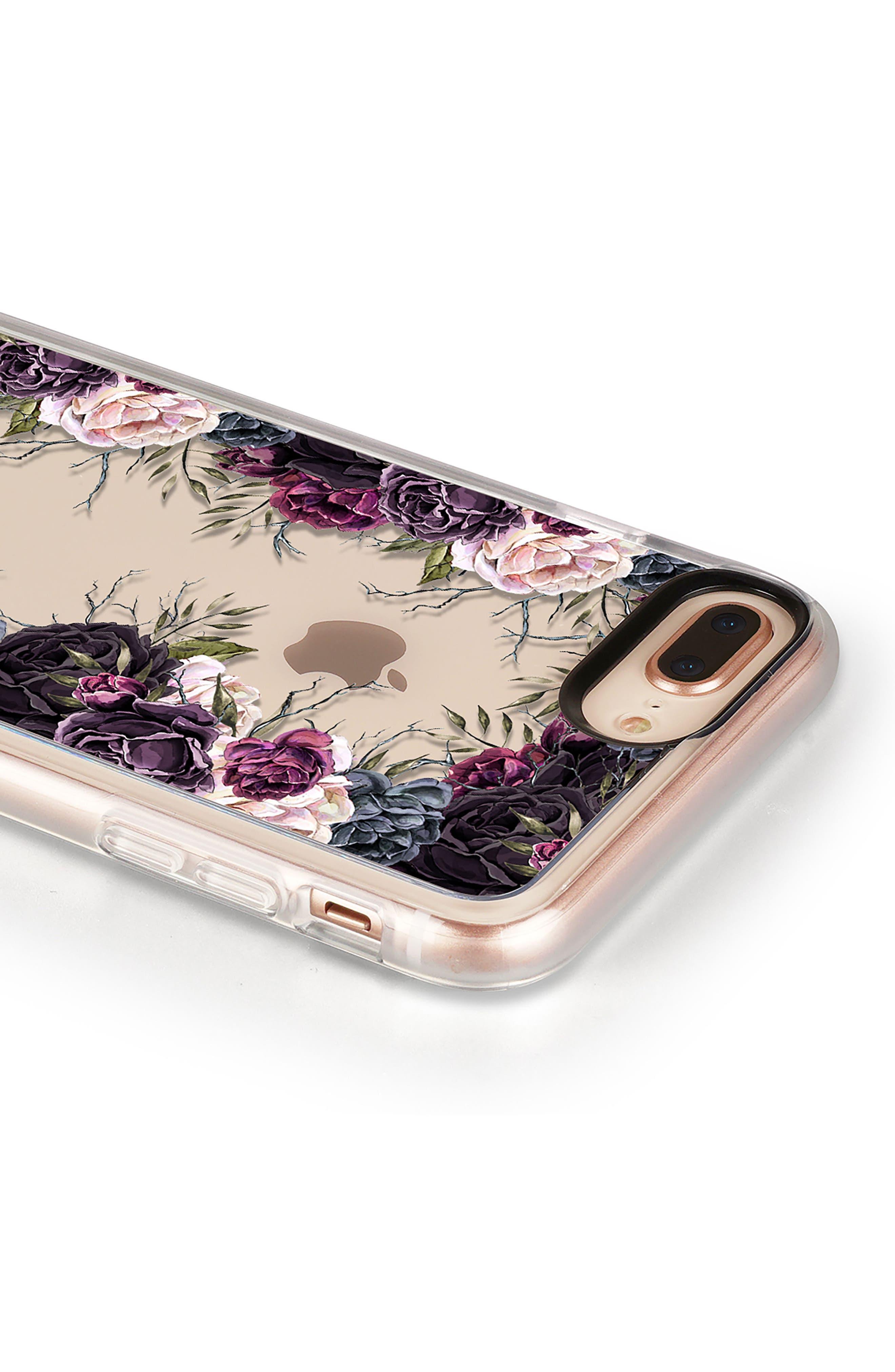 My Secret Garden Transparent iPhone 7/8 & 7/8 Plus Case,                             Alternate thumbnail 5, color,                             PURPLE
