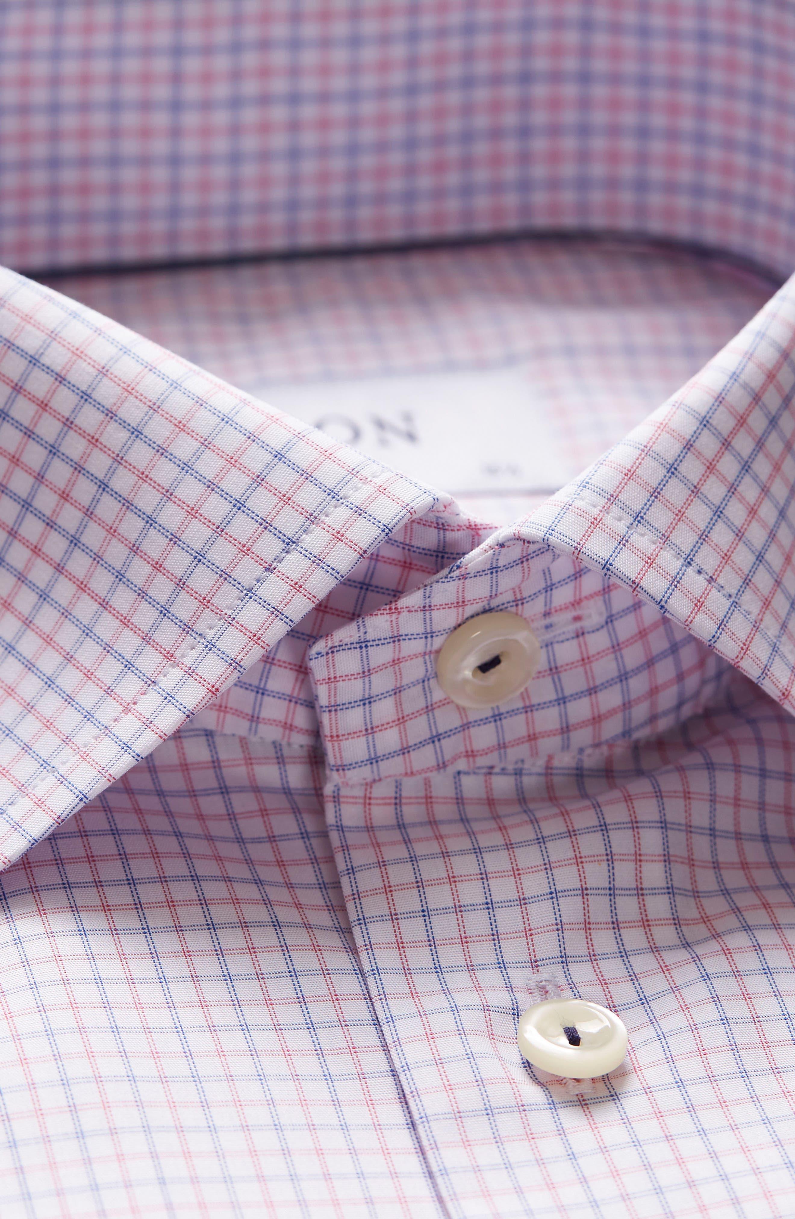 Contemporary Fit Check Dress Shirt,                             Alternate thumbnail 7, color,                             651