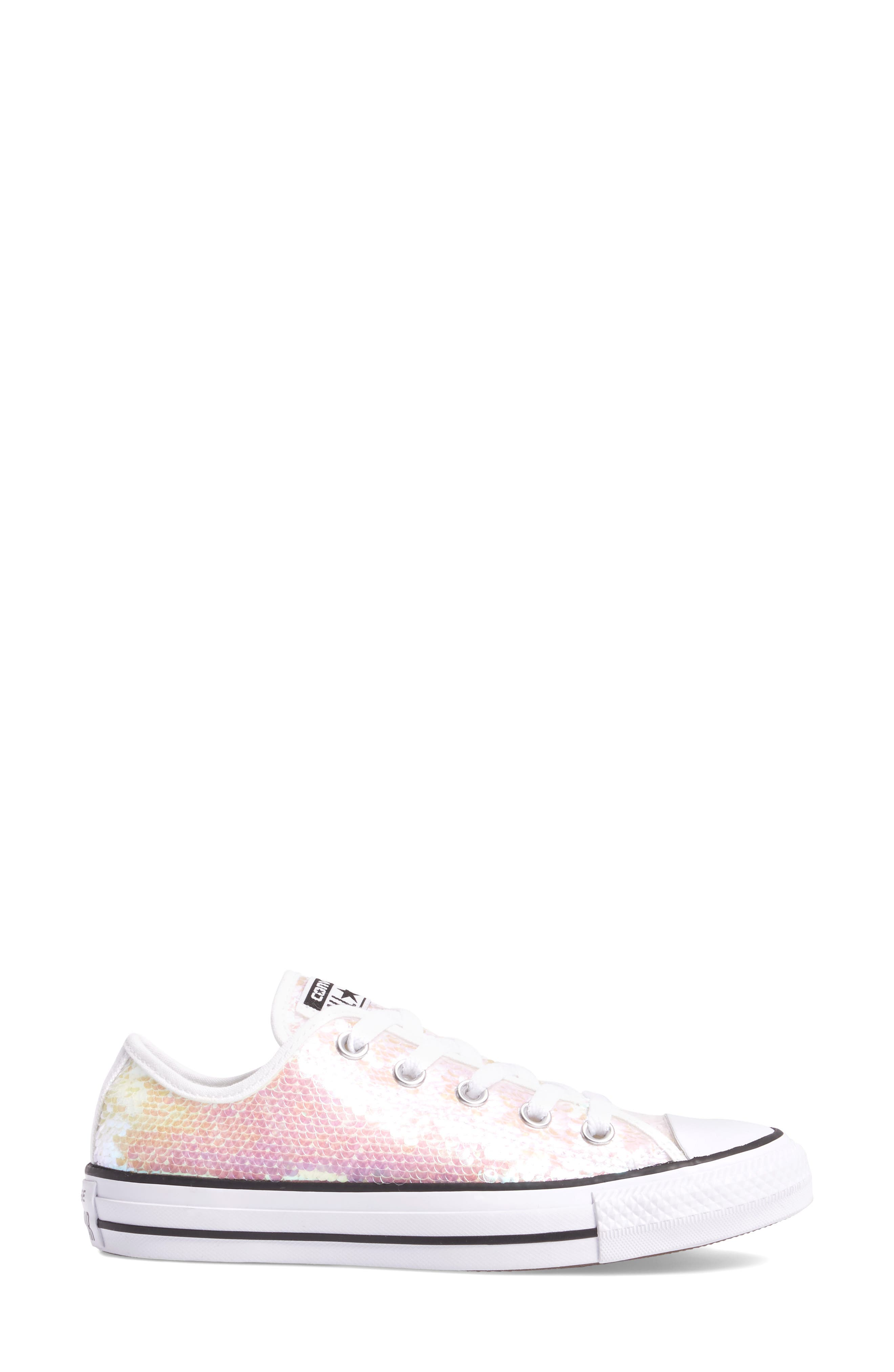 Chuck Taylor<sup>®</sup> All Star<sup>®</sup> Sequin Low Top Sneaker,                             Alternate thumbnail 6, color,