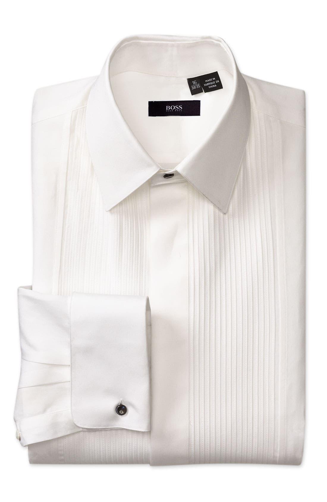 Black Classic Fit Tuxedo Shirt,                         Main,                         color, 100
