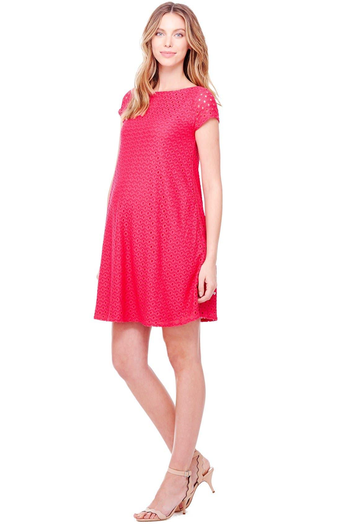 Ingrid & Isabel Lace Shift Maternity Dress,                             Alternate thumbnail 13, color,