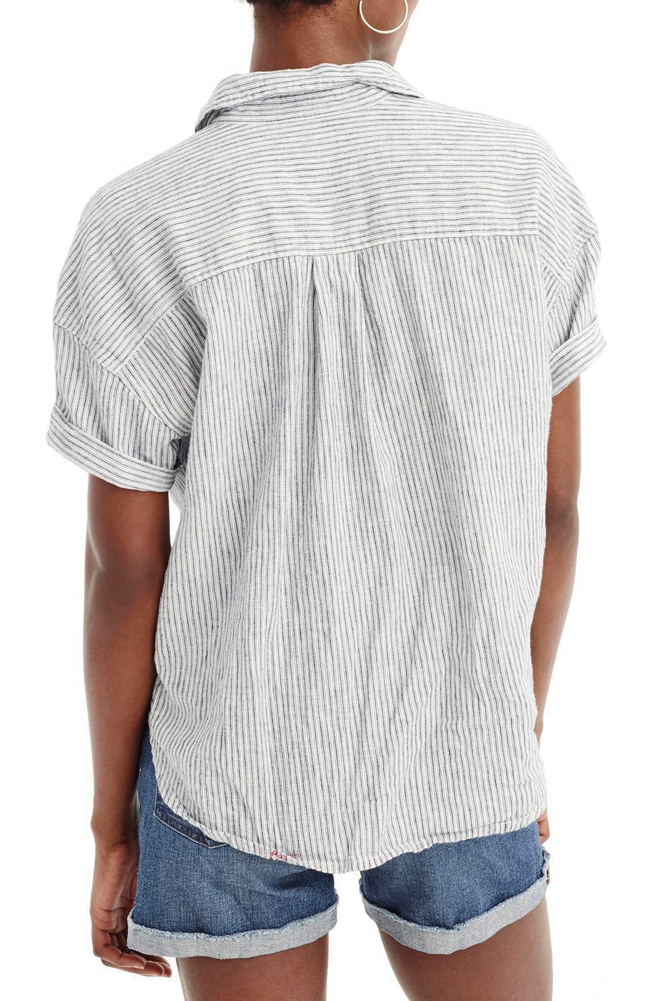 Utility Pocket Stripe Chambray Shirt,                         Main,                         color, 020