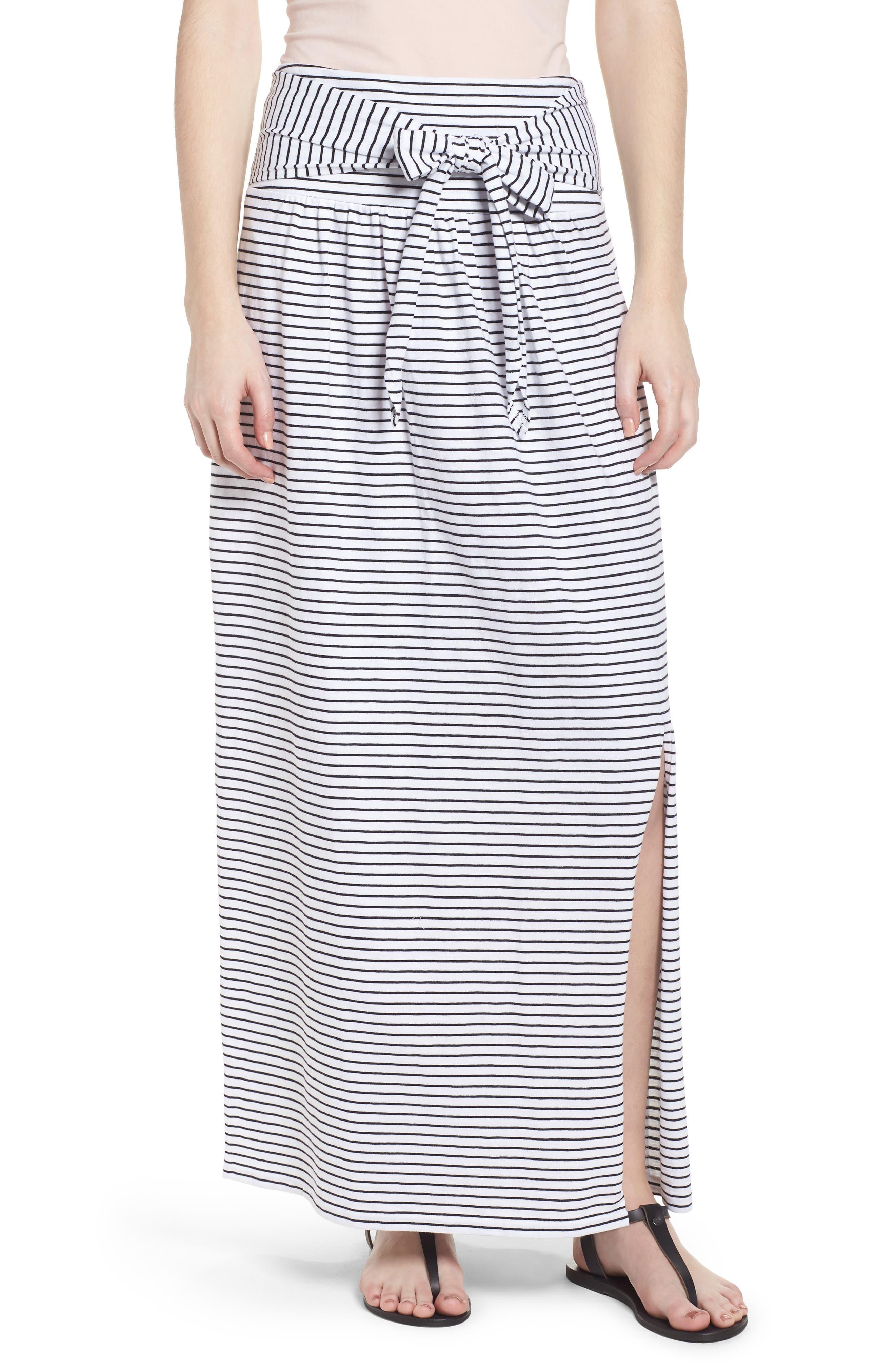 Tie Front Cotton Maxi Skirt,                             Main thumbnail 2, color,