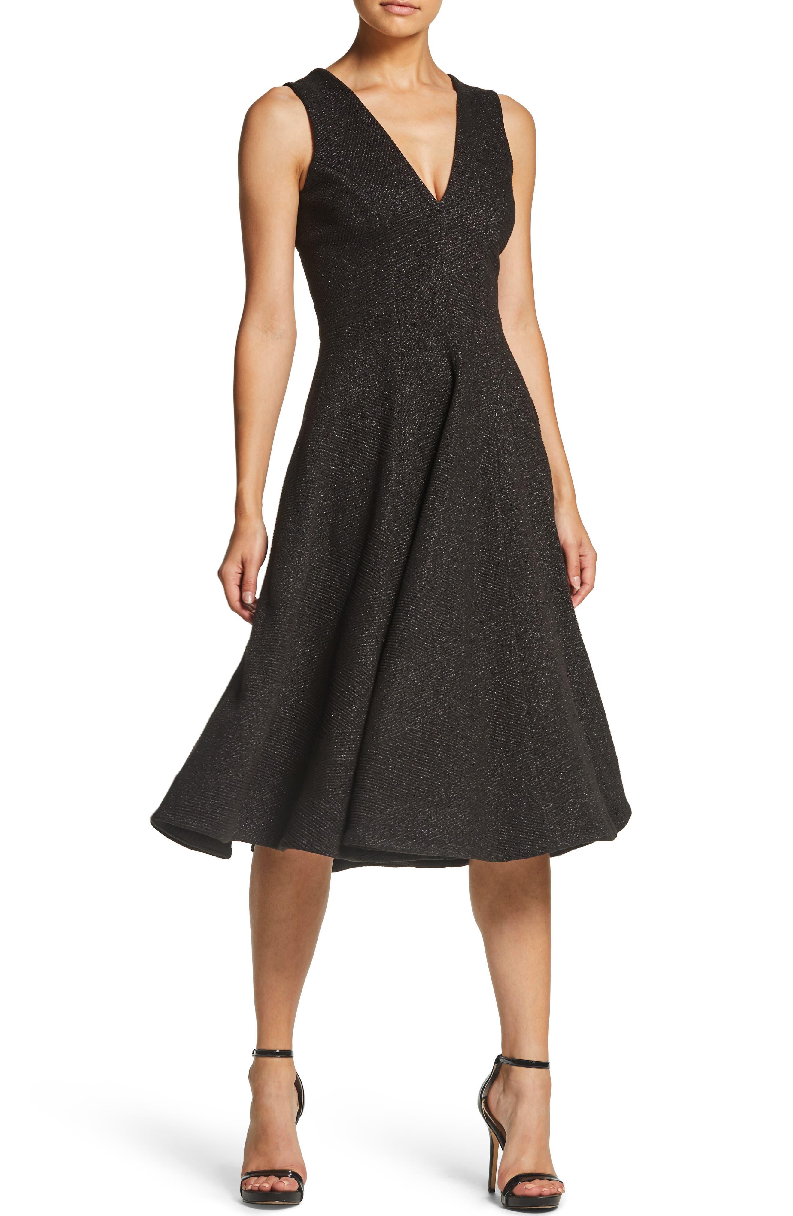 Dress The Population Peyton Sleeveless A-Line Dress, Black