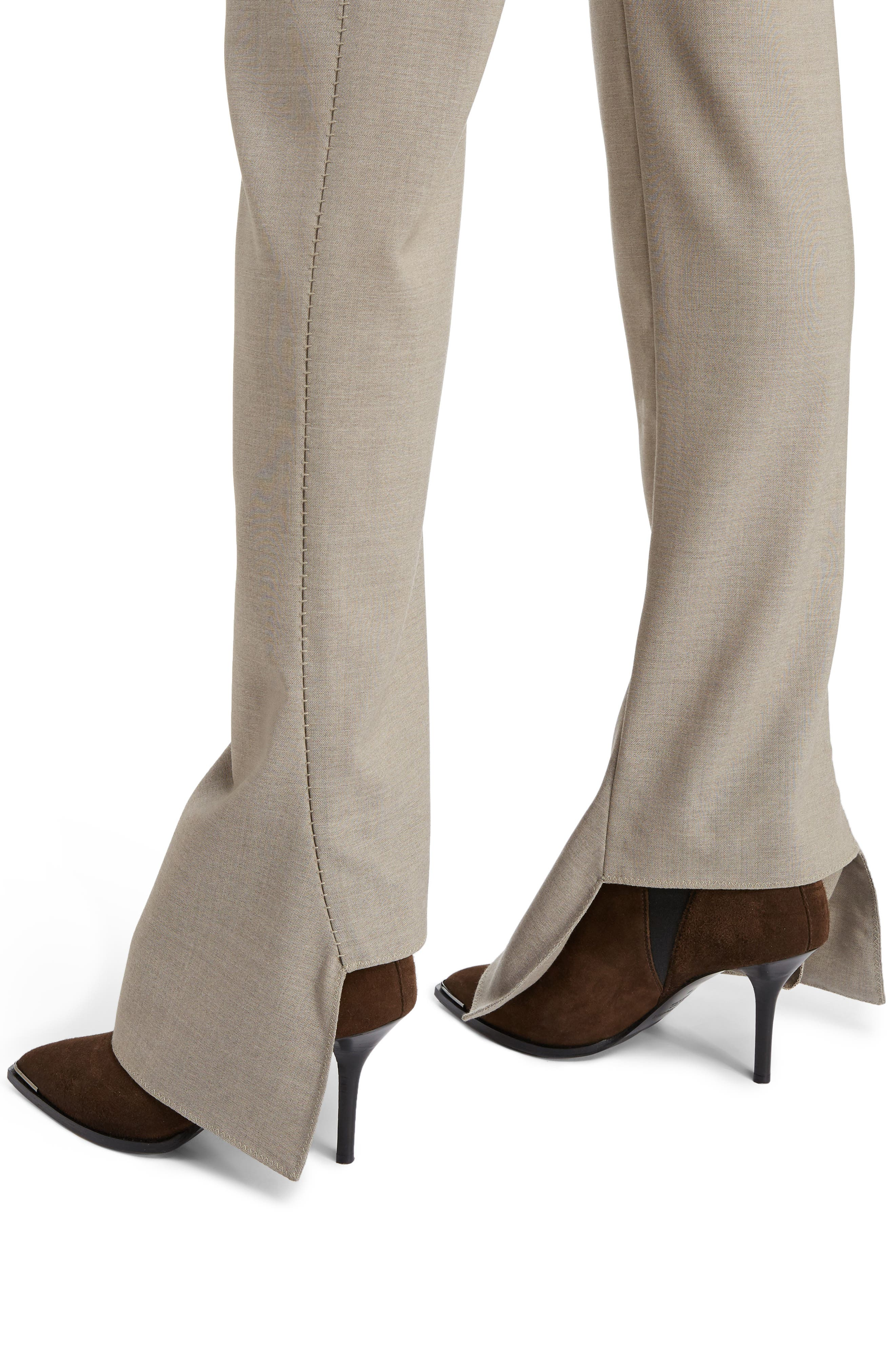 Toni Fluid Wide Leg Wool Pants,                             Alternate thumbnail 4, color,                             250