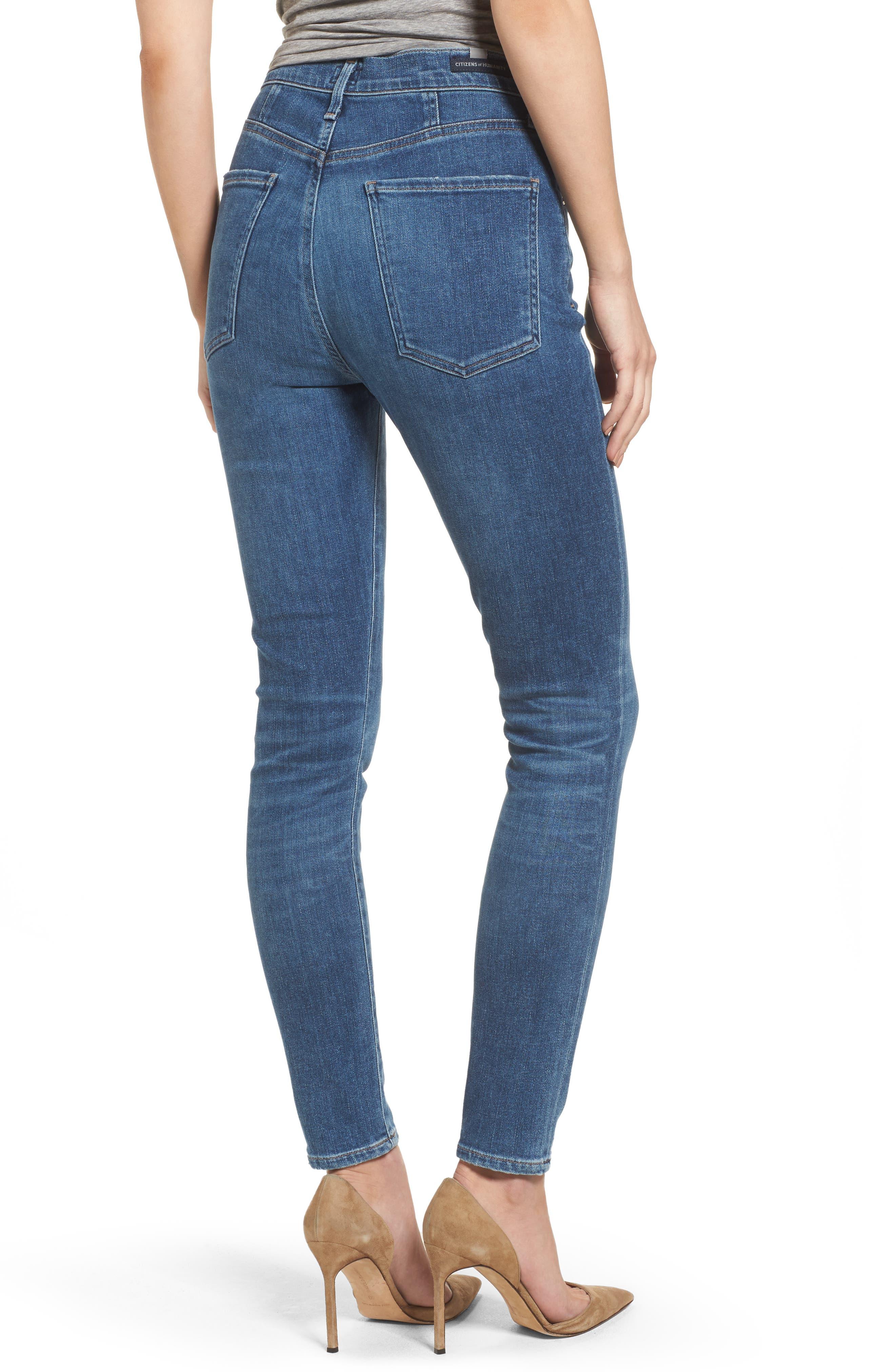 Chrissy High Waist Skinny Jeans,                             Alternate thumbnail 2, color,                             455