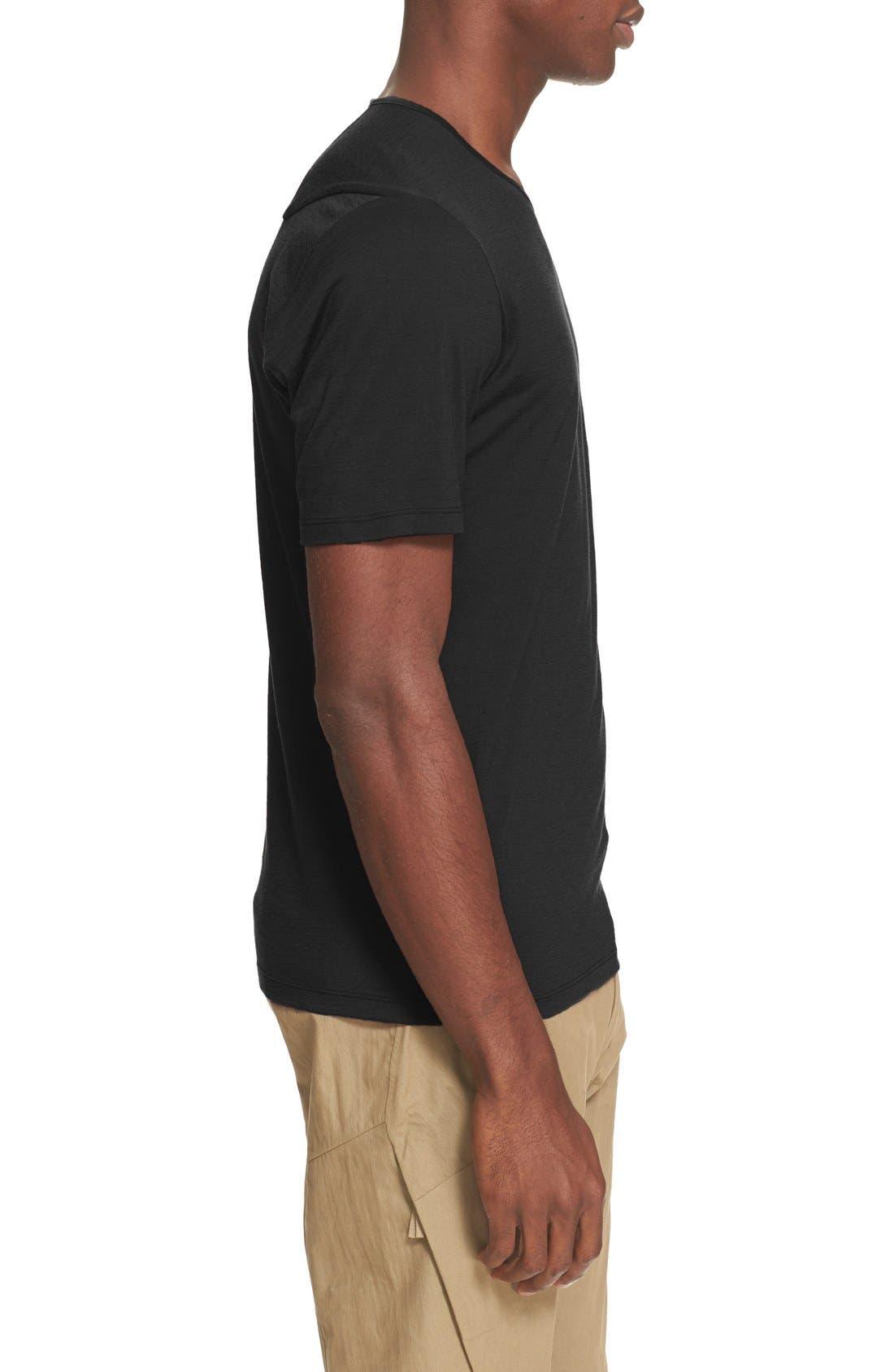 ARC'TERYX VEILANCE,                             'Frame' Merino Wool T-Shirt,                             Alternate thumbnail 3, color,                             001