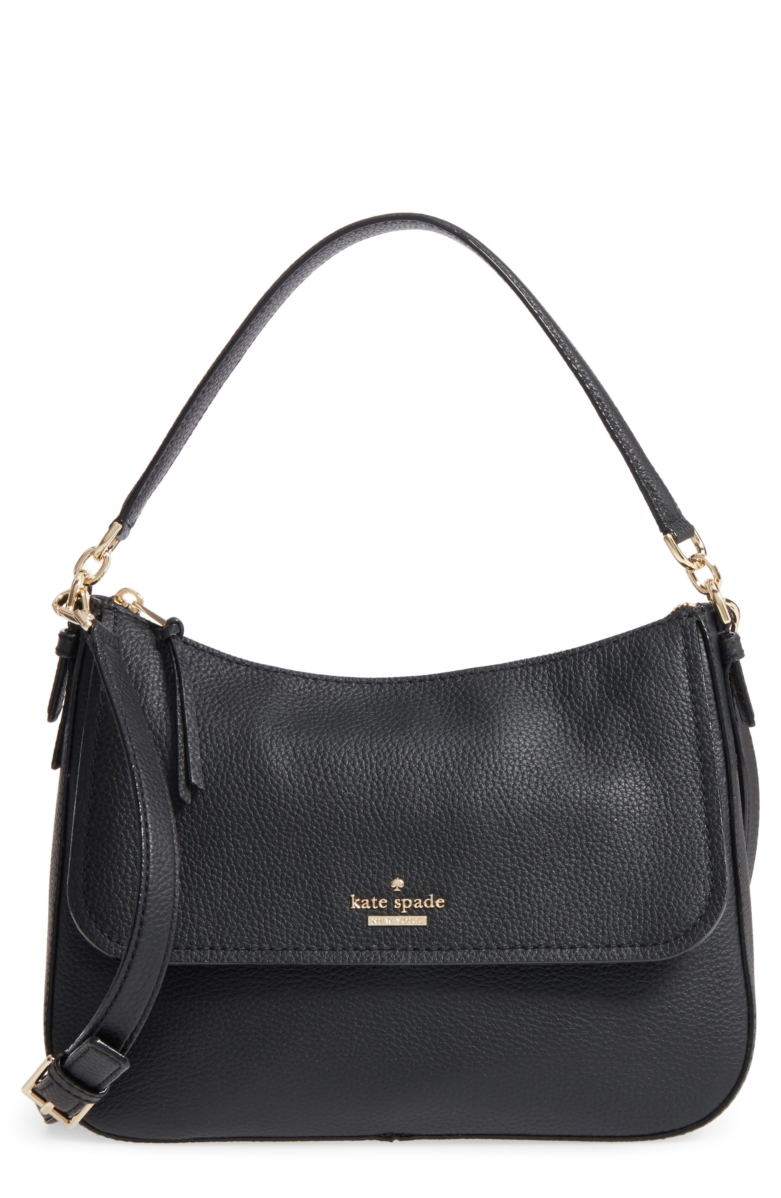 jackson street - colette leather satchel,                         Main,                         color, BLACK