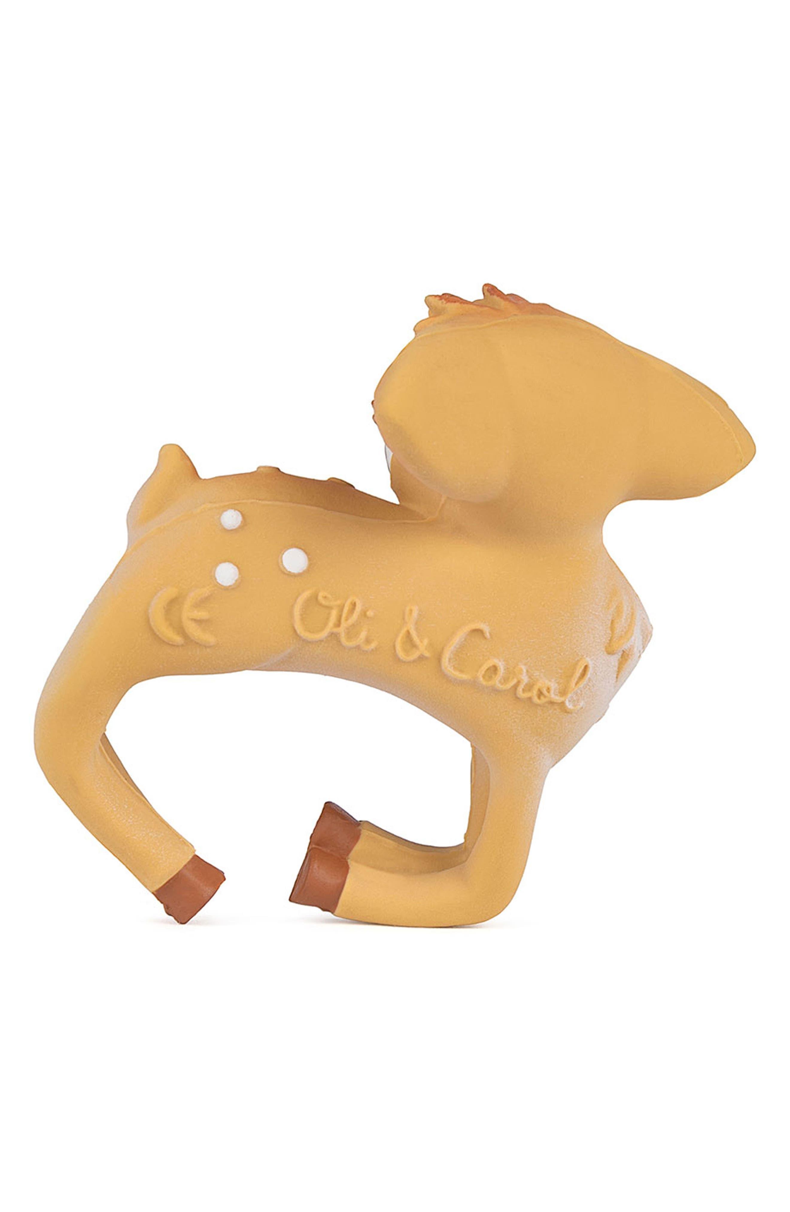 Olive the Deer Teething Bracelet,                             Alternate thumbnail 2, color,                             BROWN DEER BRACELET