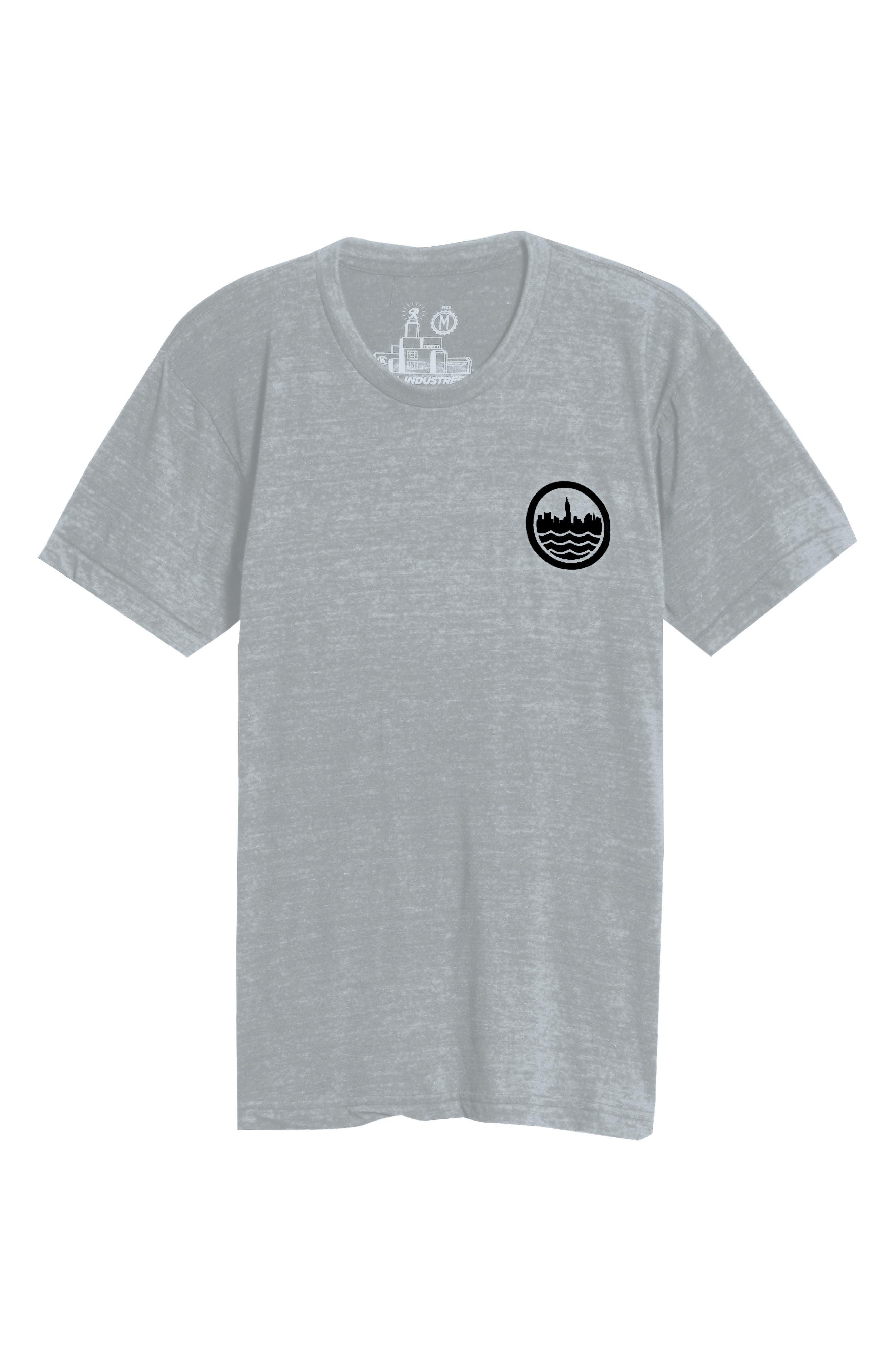 NYC Graphic T-Shirt,                             Alternate thumbnail 6, color,                             TRI BLAK