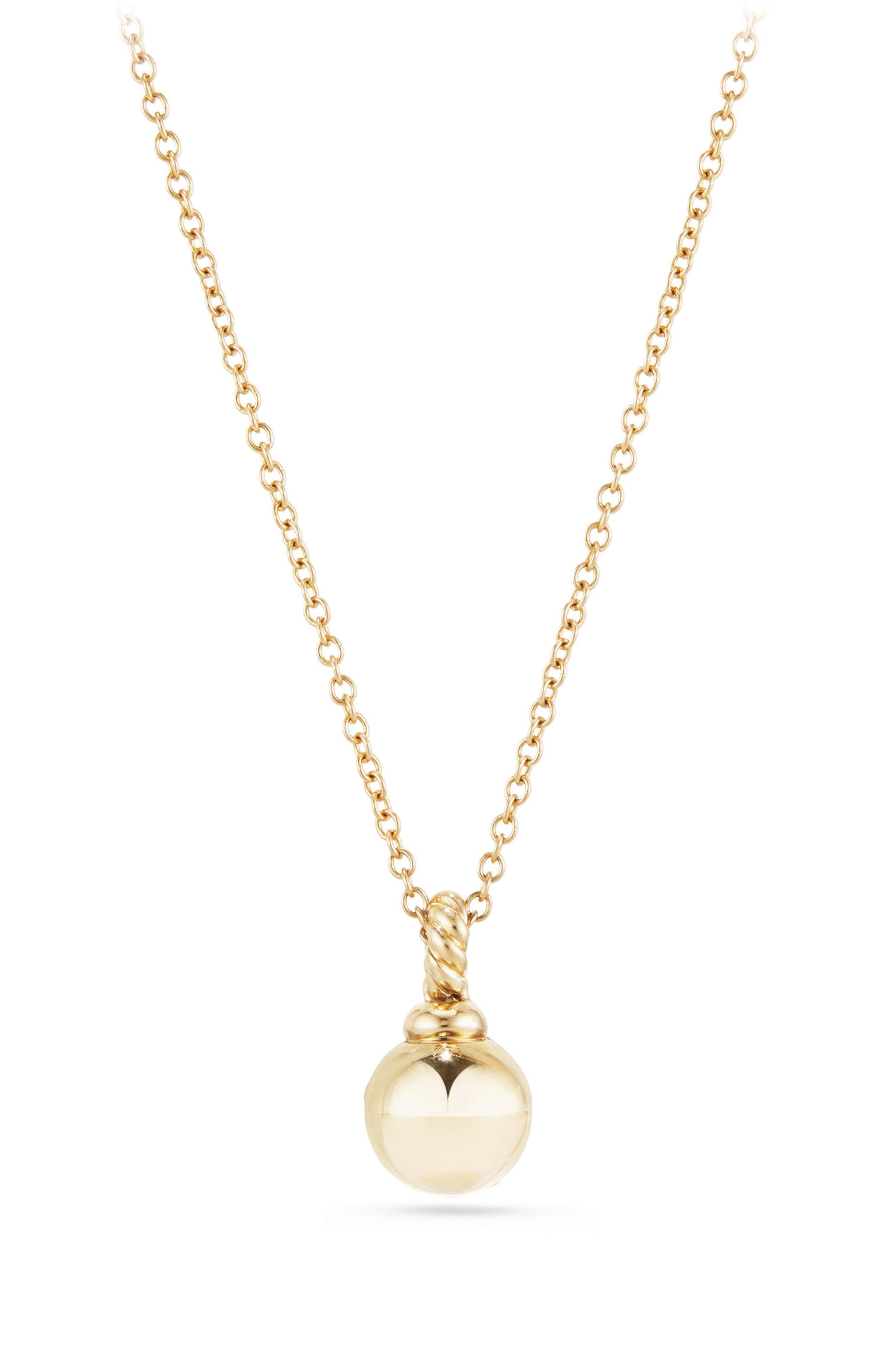 Petite Solari Pavé Necklace with Diamonds in 18K Gold,                             Alternate thumbnail 2, color,                             YELLOW GOLD/ DIAMOND