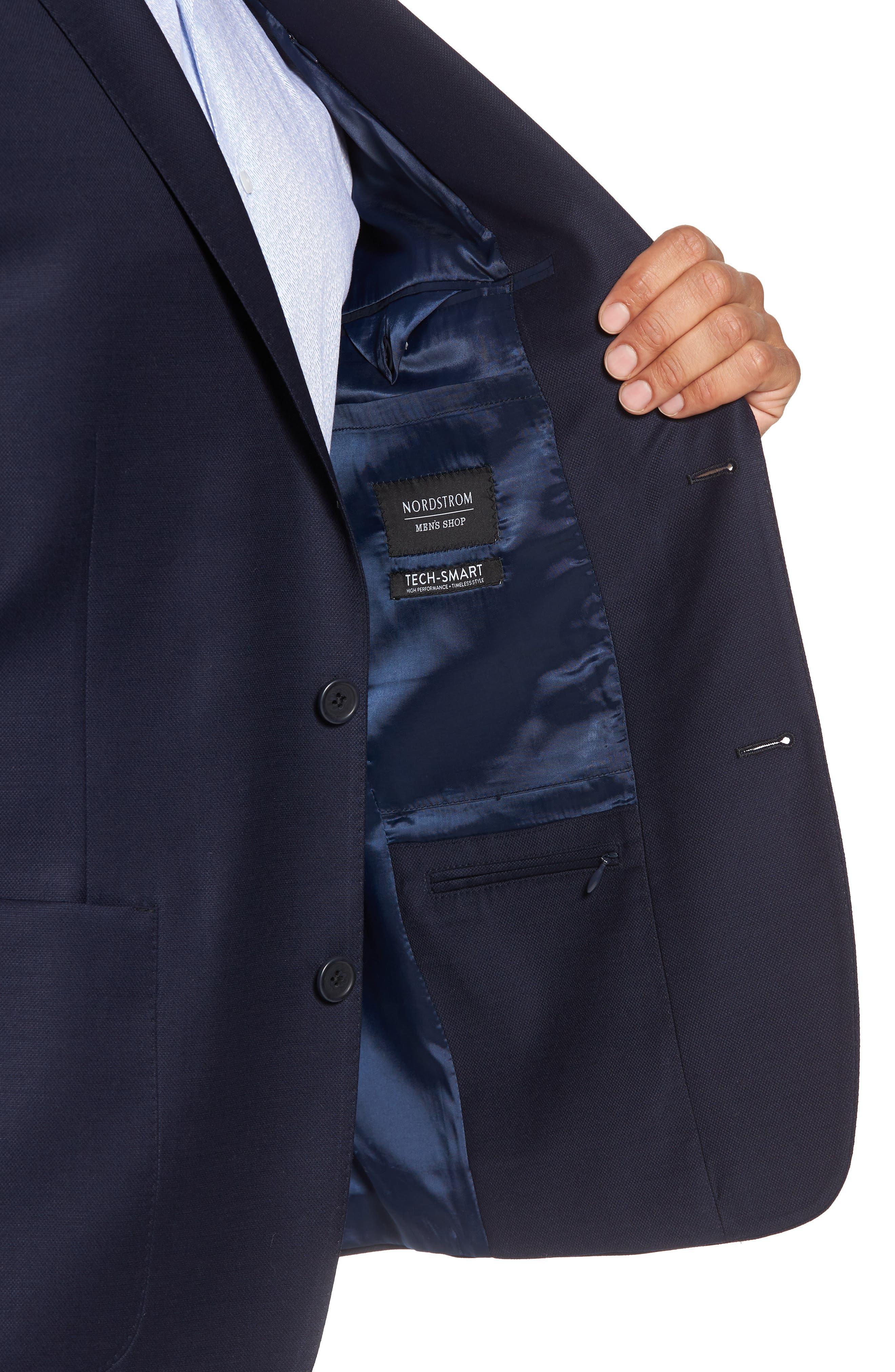 Trim Fit Stretch Wool Travel Blazer,                             Alternate thumbnail 4, color,                             410