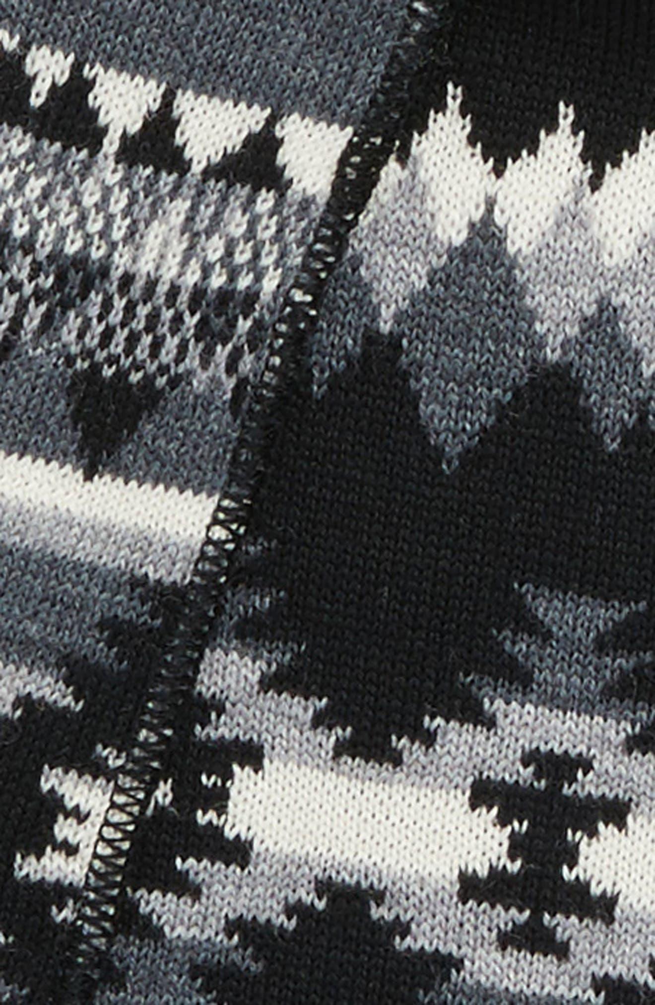Merino Wool Muffler,                             Alternate thumbnail 4, color,                             001
