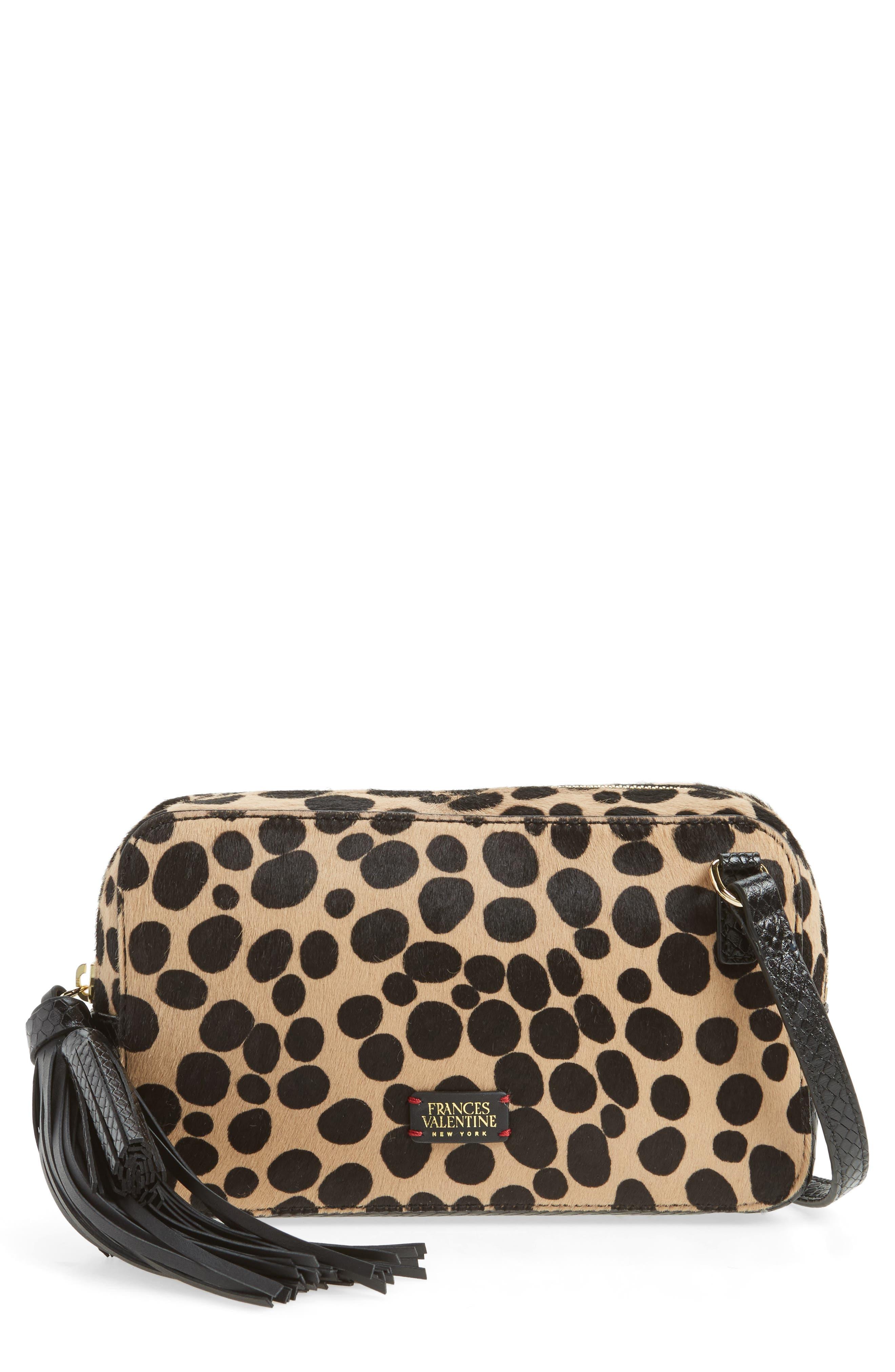 Genuine Calf Hair Crossbody Bag,                         Main,                         color, 001