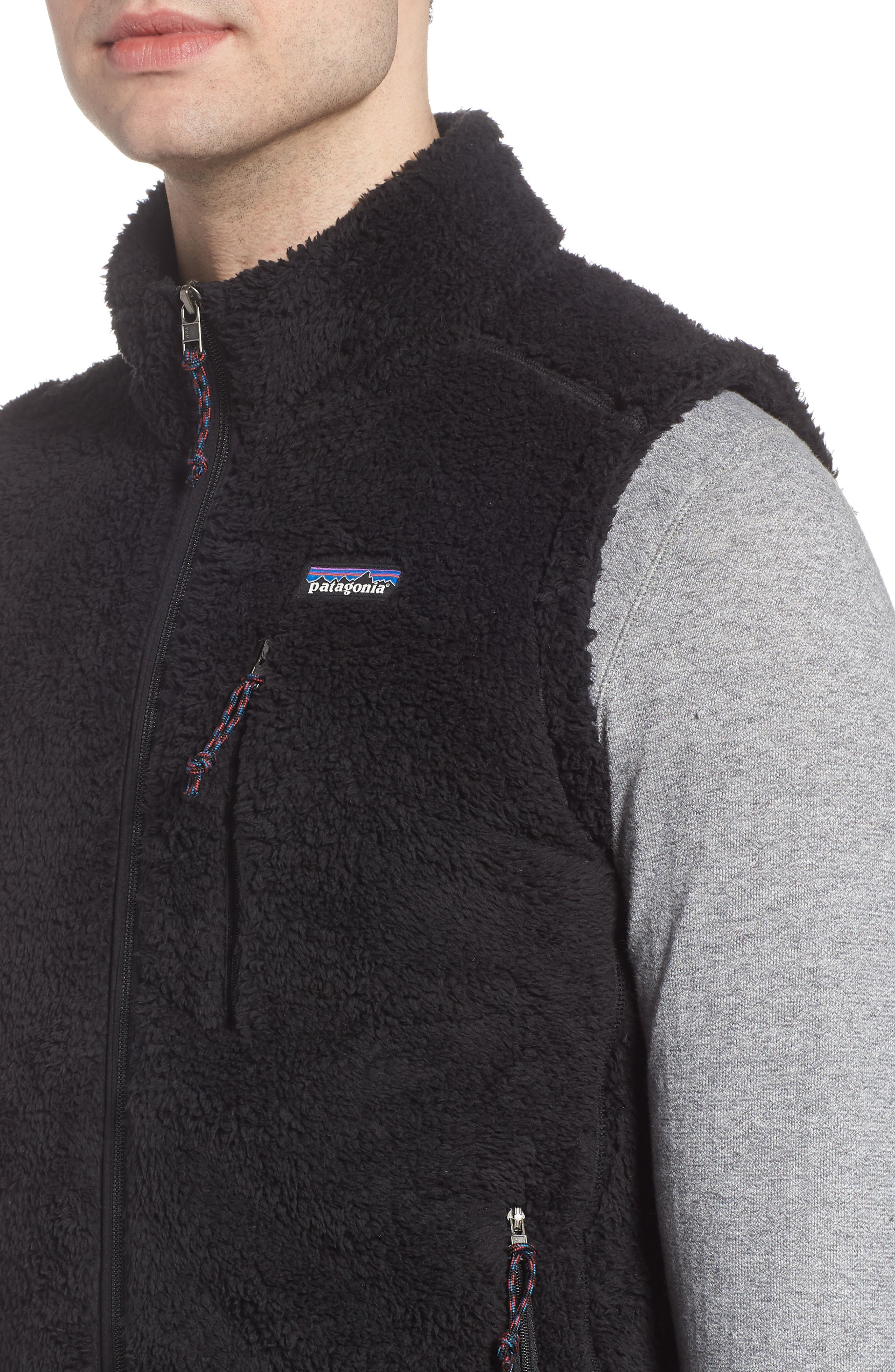 Los Gatos Fleece Vest,                             Alternate thumbnail 4, color,                             BLACK