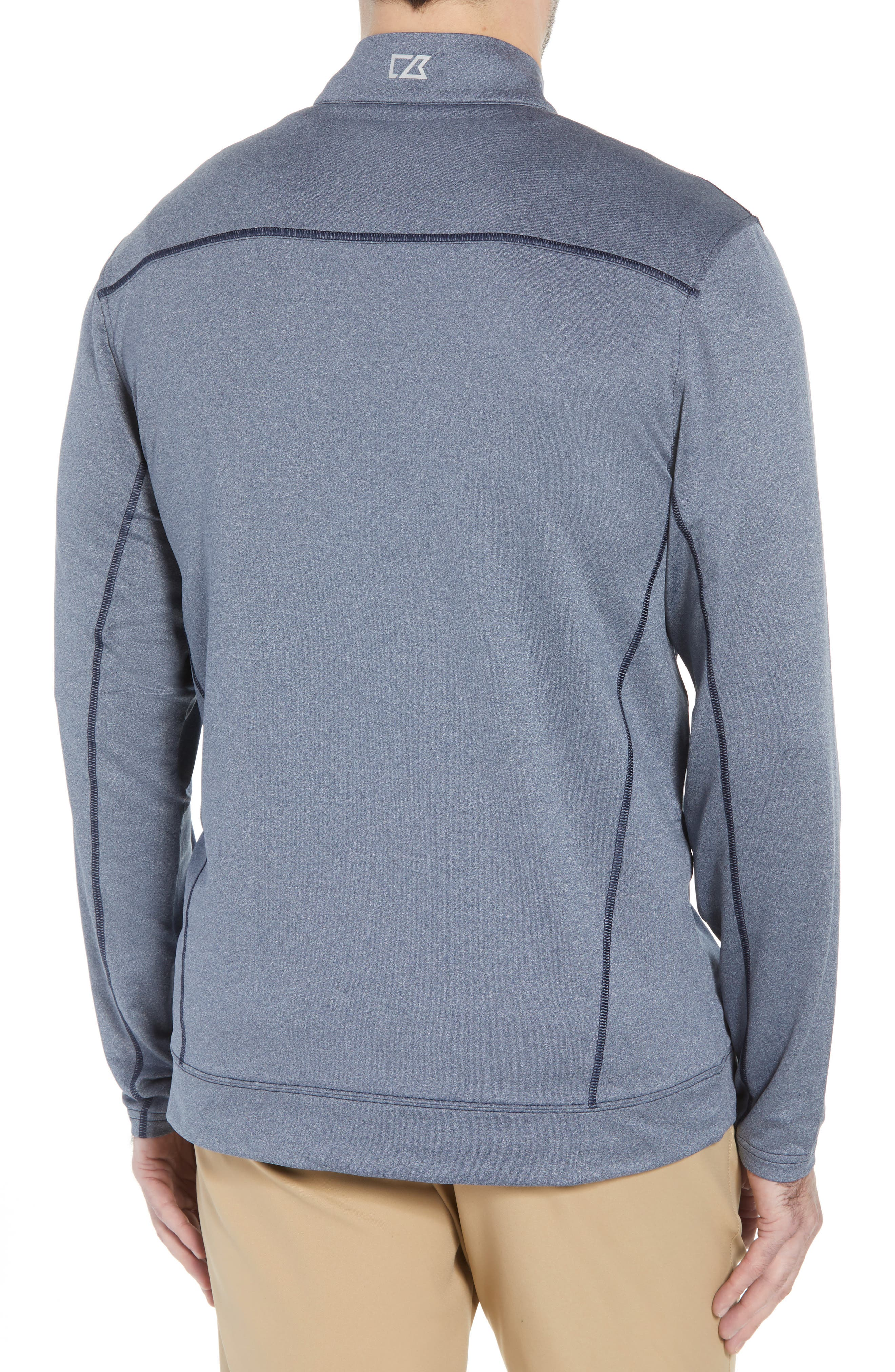 Endurance Houston Texans Regular Fit Pullover,                             Alternate thumbnail 2, color,                             LIBERTY NAVY HEATHER