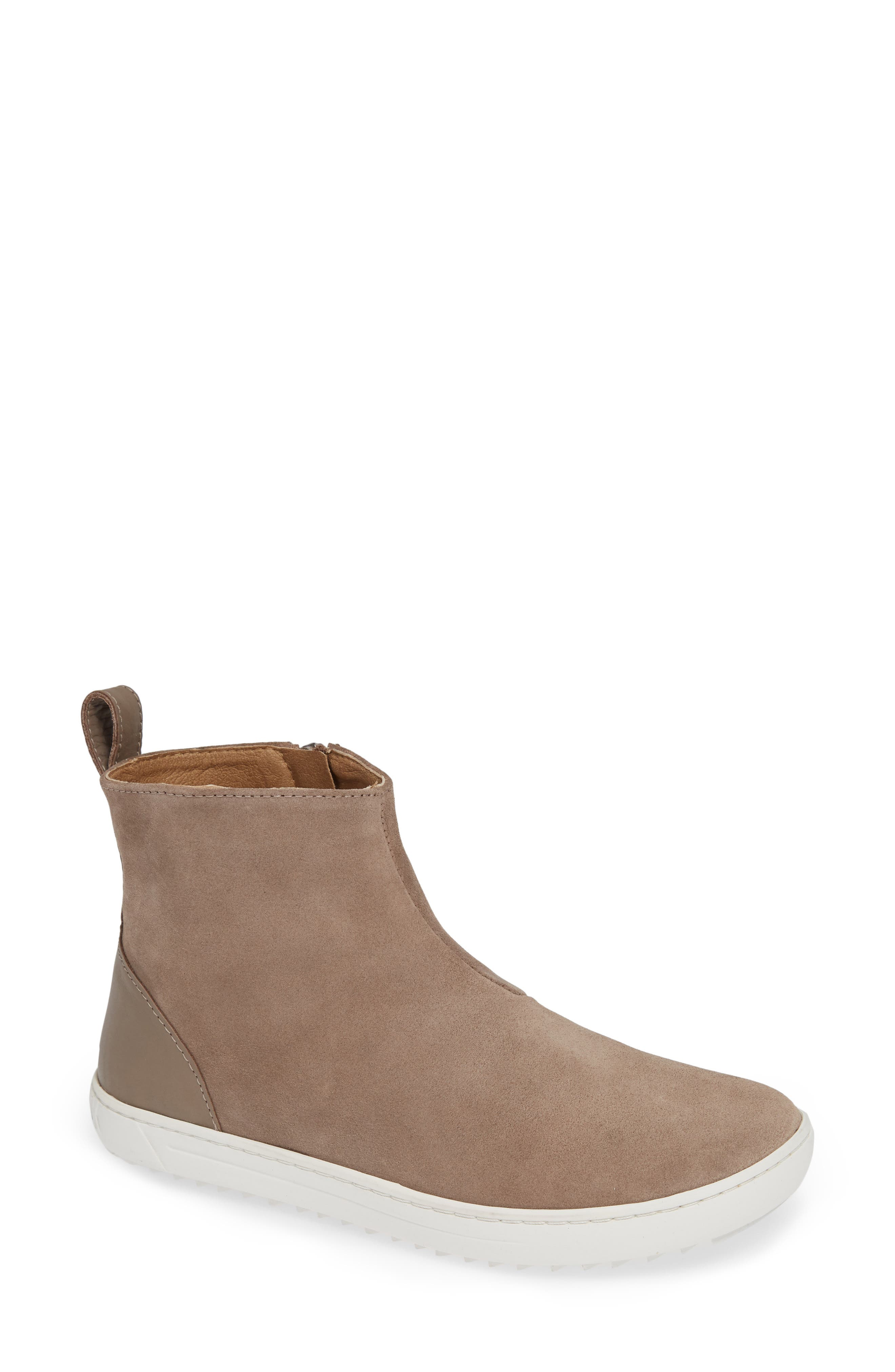 Myra High Top Sneaker,                         Main,                         color, TAUPE SUEDE