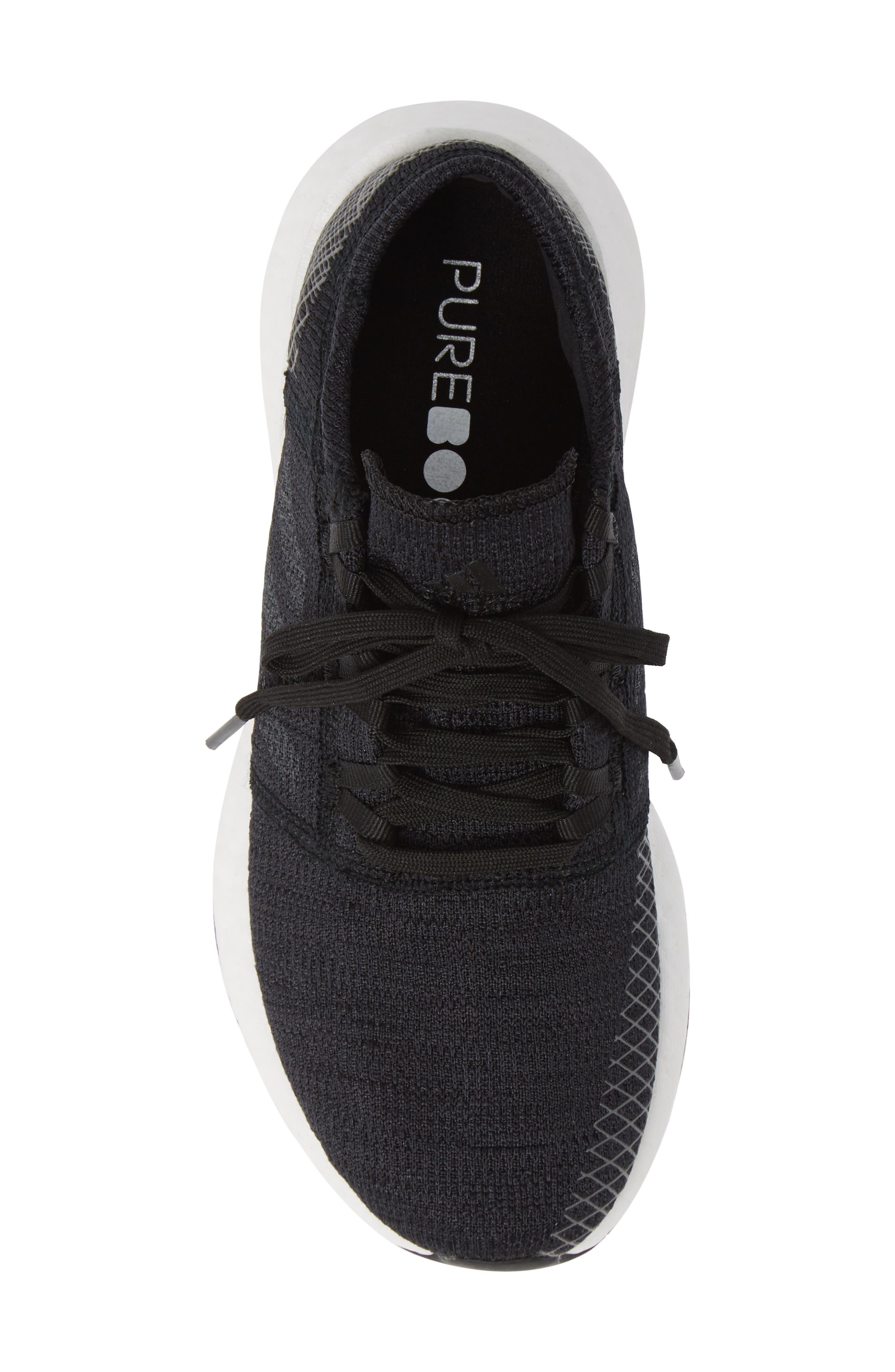 PureBoost X Element Knit Running Shoe,                             Alternate thumbnail 5, color,                             001