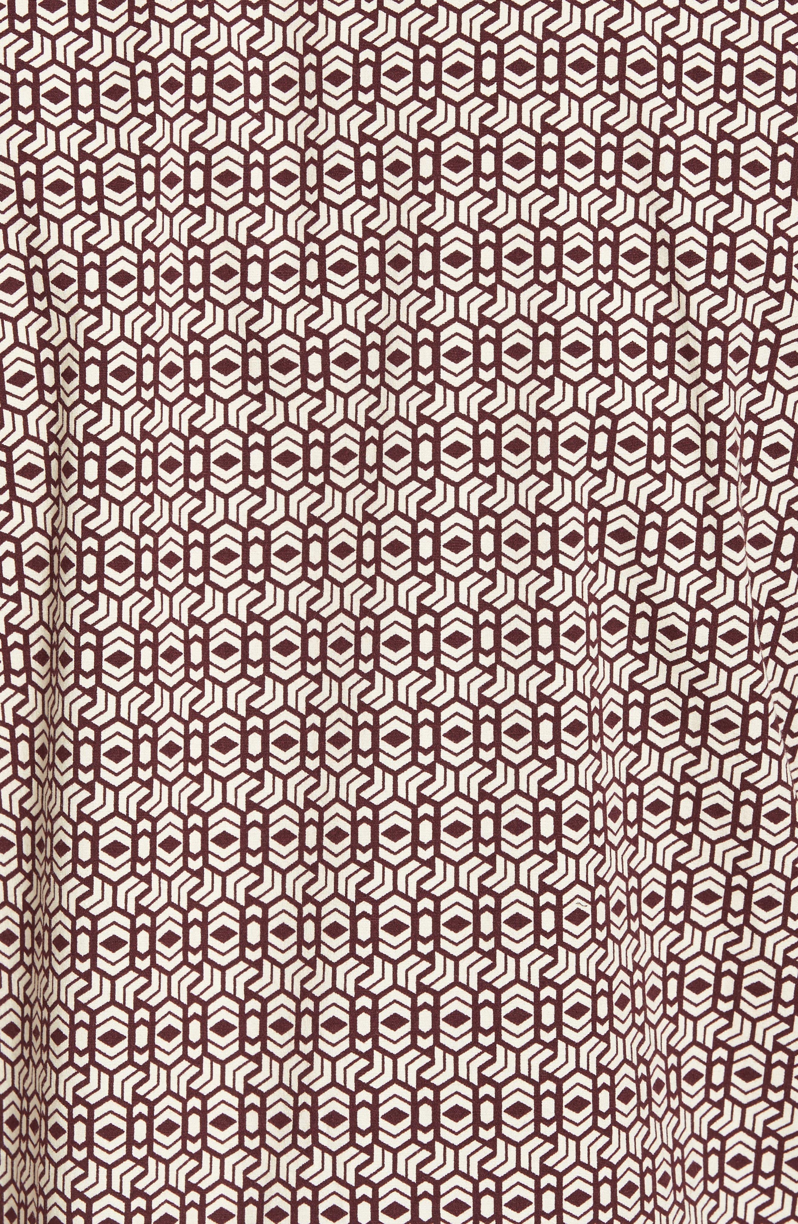 Chevrons Slim Fit Camp Shirt,                             Alternate thumbnail 5, color,