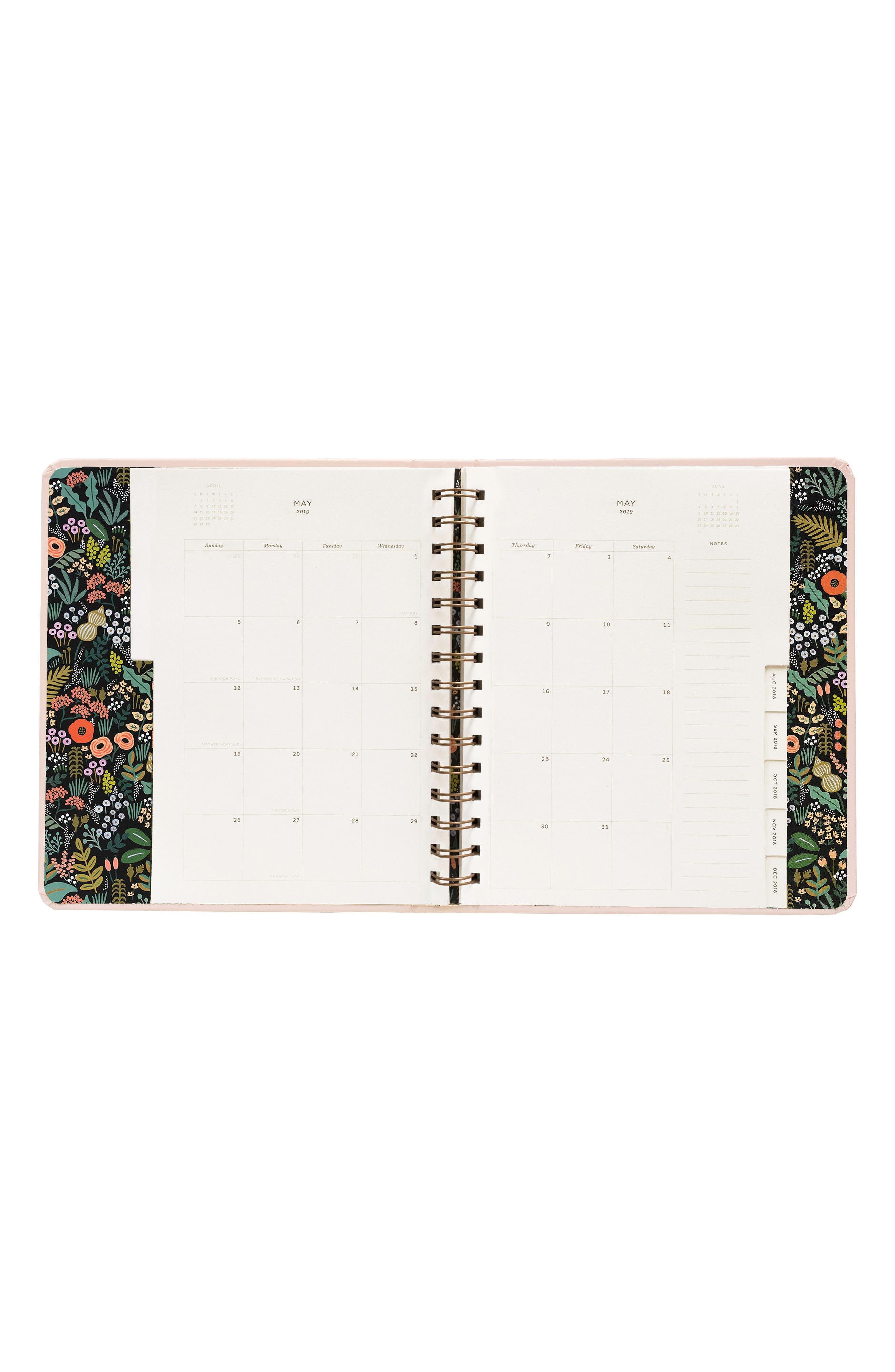 2019 Bouquet 17-Month Planner,                             Alternate thumbnail 2, color,                             PINK