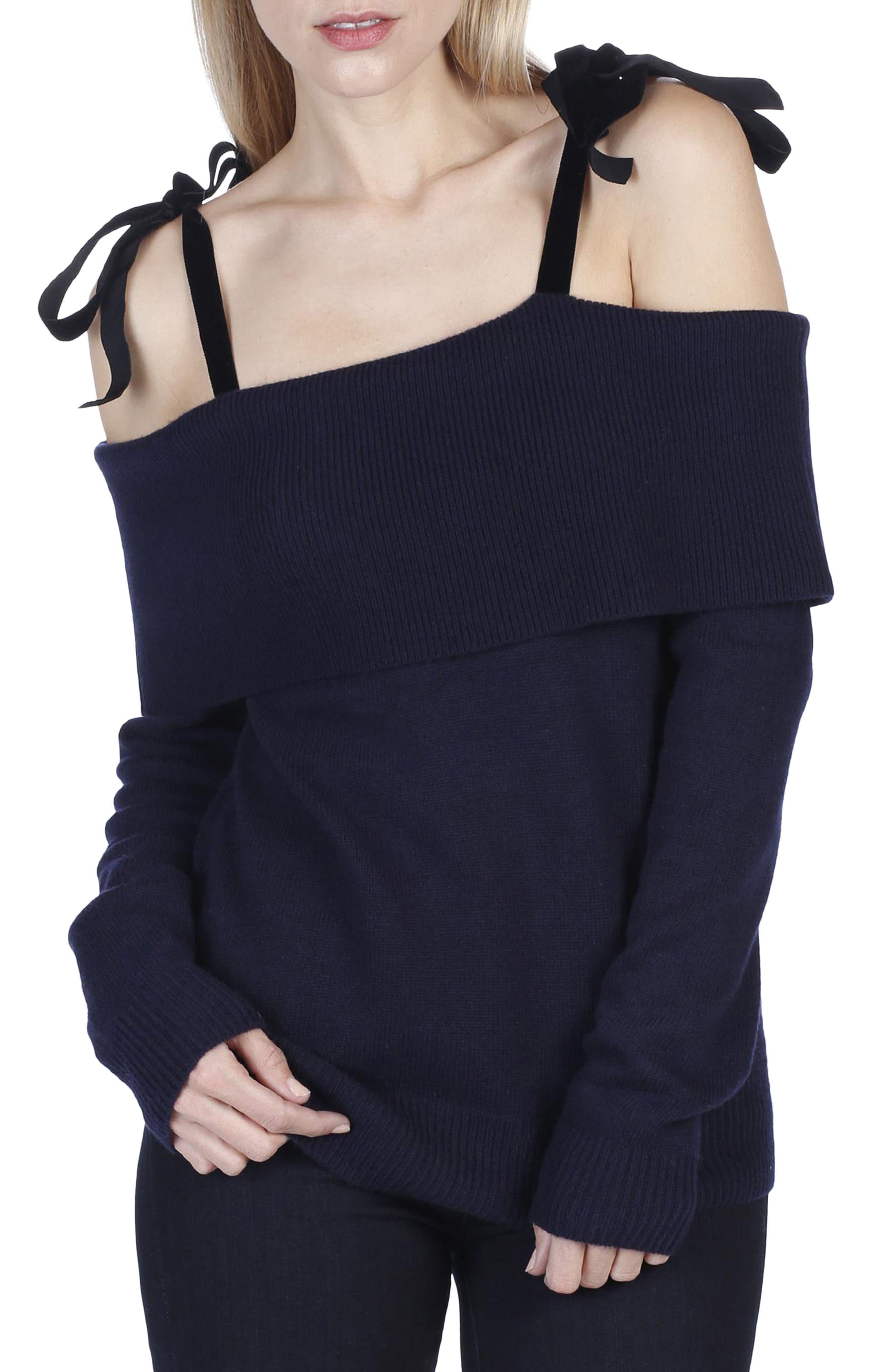 Violette Tie Shoulder Sweater,                             Main thumbnail 1, color,                             400