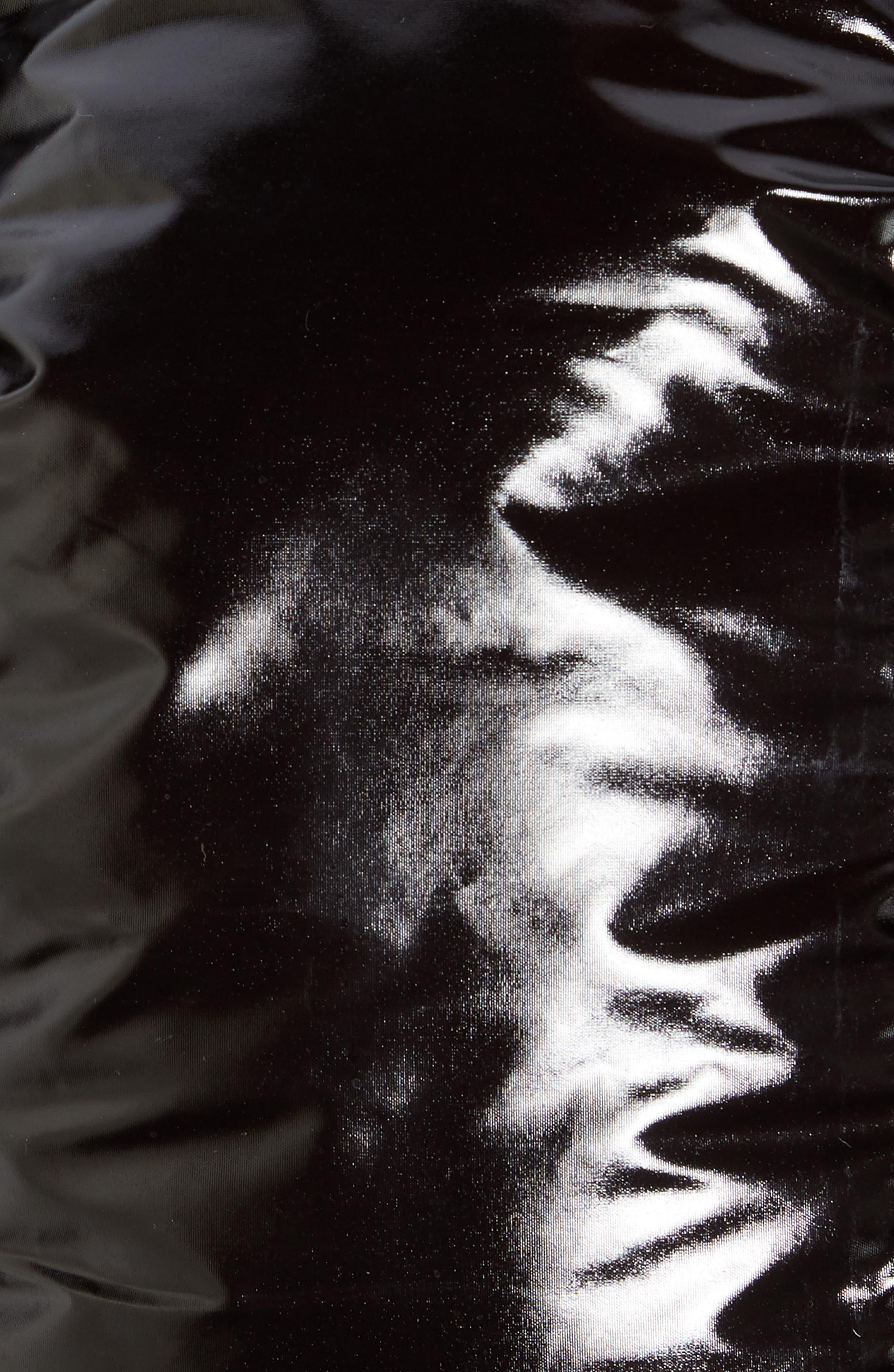 Hooded Puffer Jacket,                             Alternate thumbnail 7, color,                             BLACK ROCK