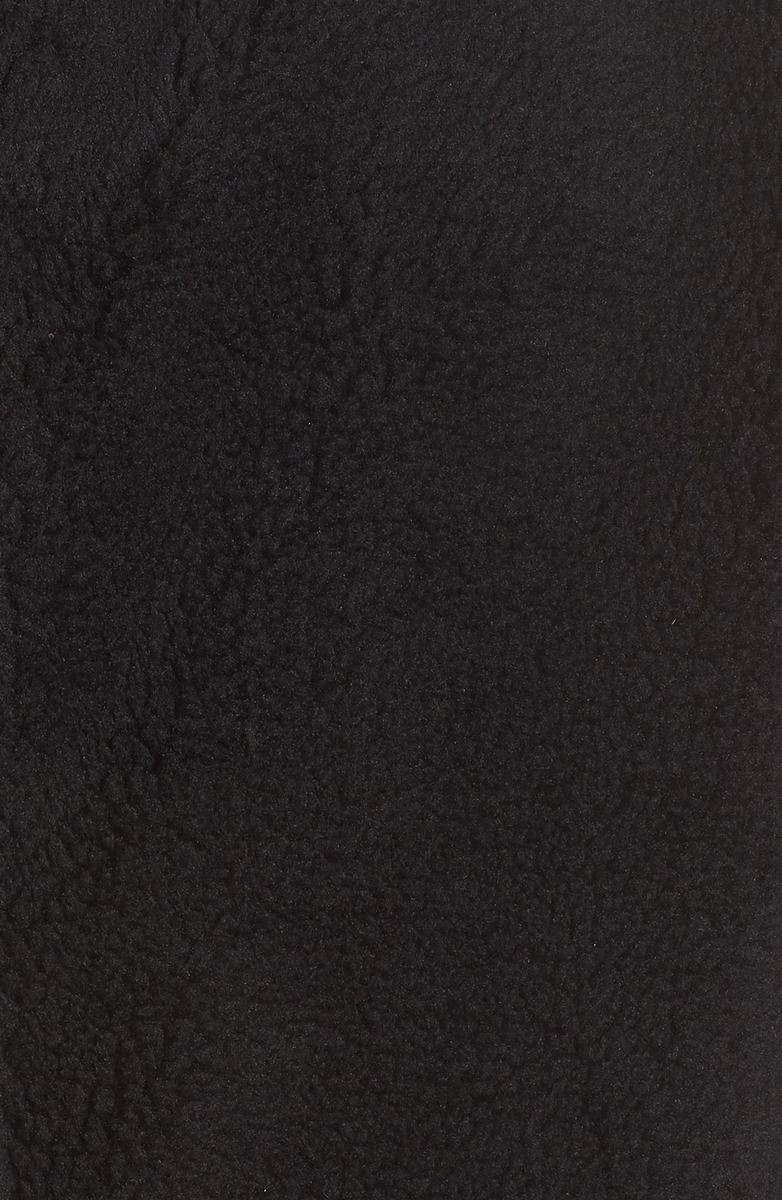 Foxy Faux Fur Jacket,                             Alternate thumbnail 6, color,                             BLACK