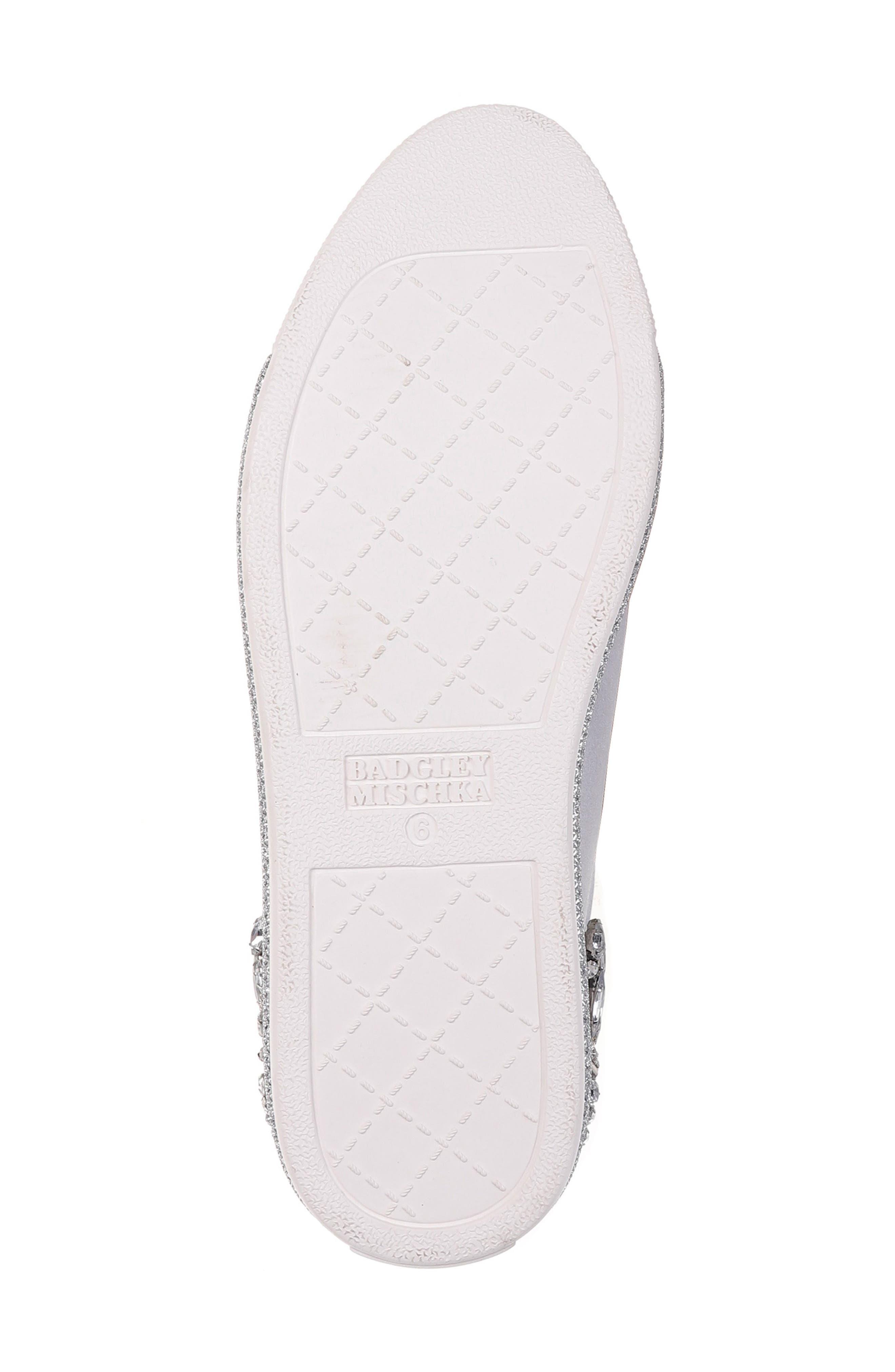 Badgley Mischka Shirley Crystal Embellished Sneaker,                             Alternate thumbnail 6, color,                             045