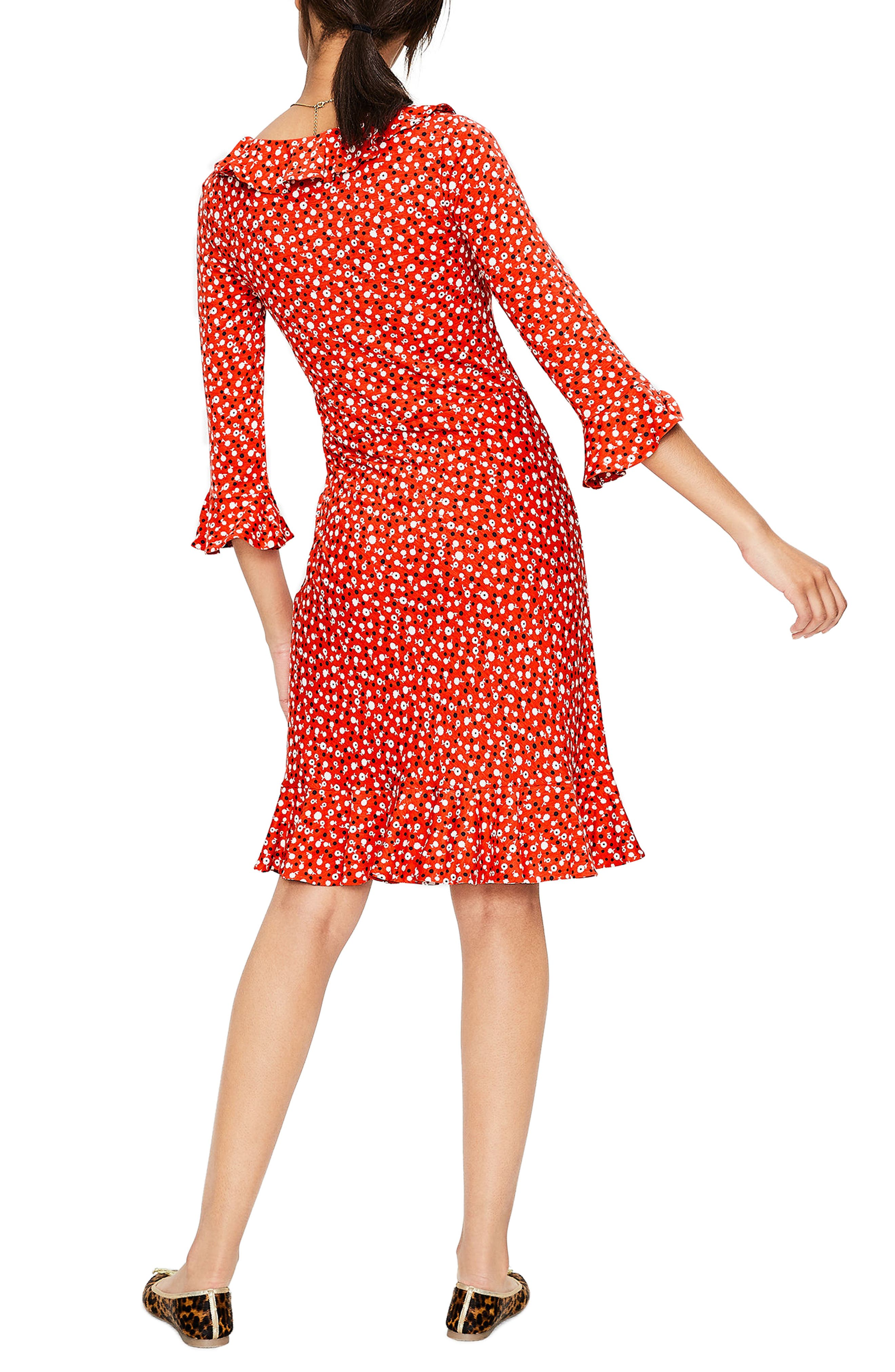 Fluted Wrap Style Stretch Jersey Dress,                             Alternate thumbnail 2, color,                             614