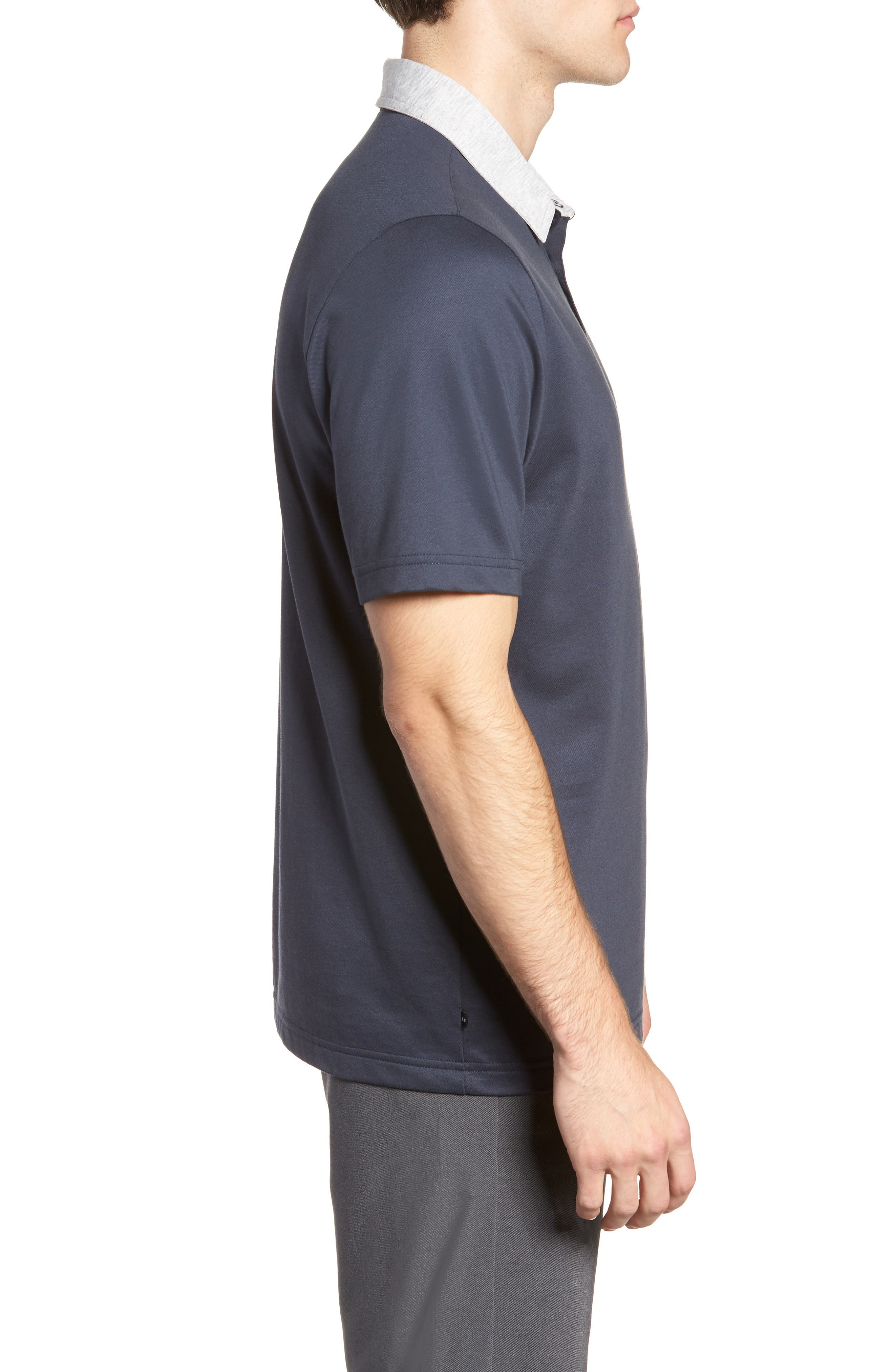 Pays for Itself Trim Fit Polo,                             Alternate thumbnail 3, color,                             BLUE NIGHTS
