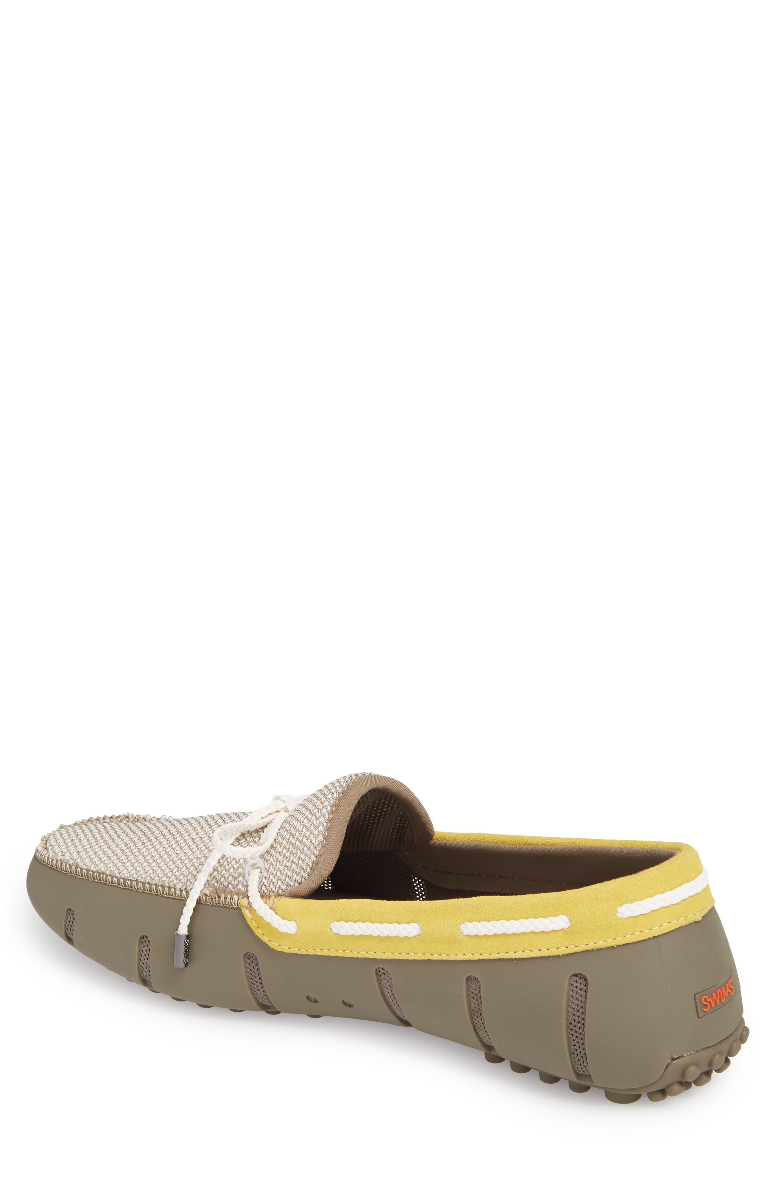 Driving Shoe,                             Alternate thumbnail 2, color,                             KHAKI/ FADED LEMON/ WHITE