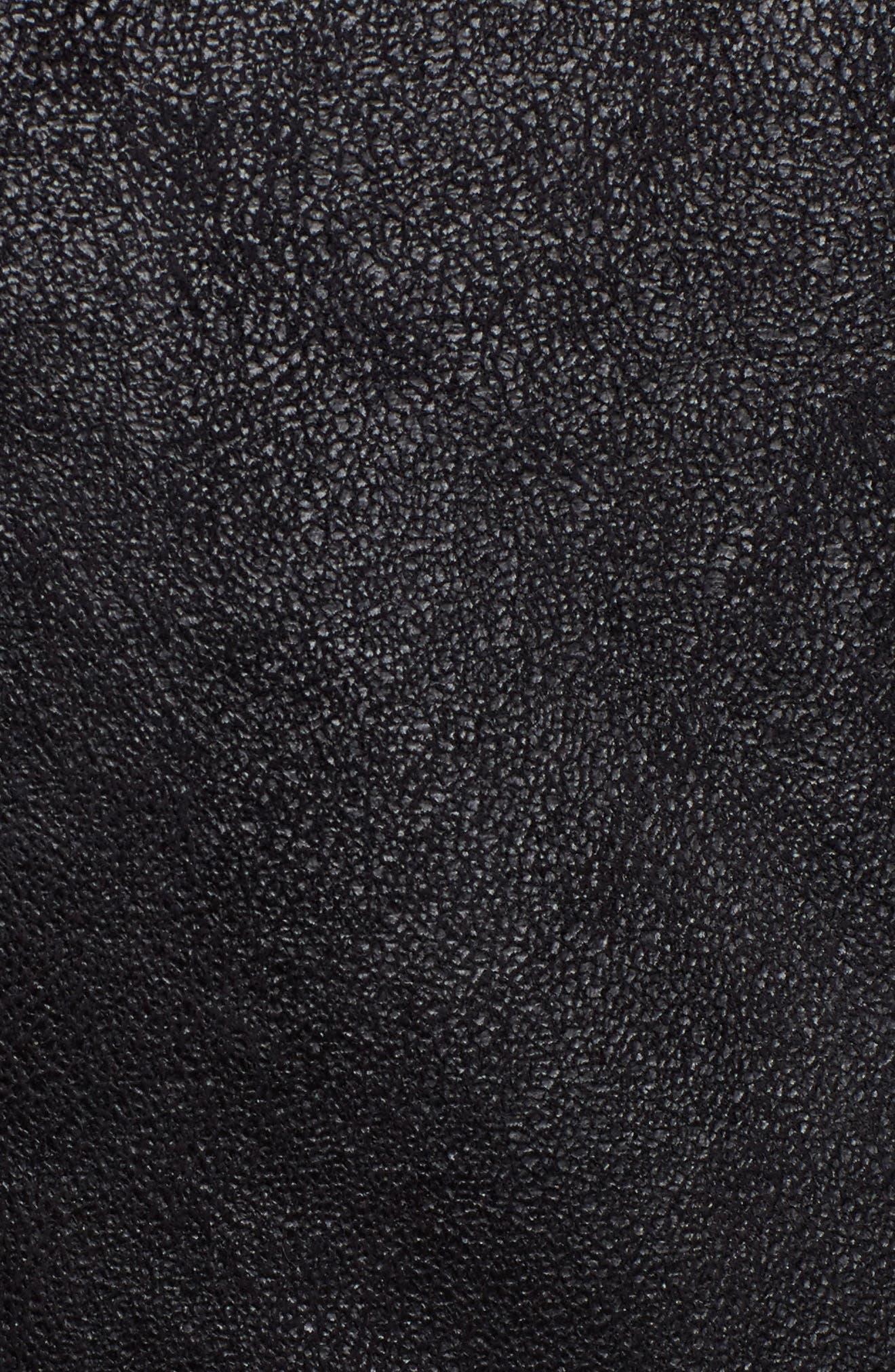 Faux Suede Moto Jacket with Faux Fur Collar,                             Alternate thumbnail 6, color,                             460