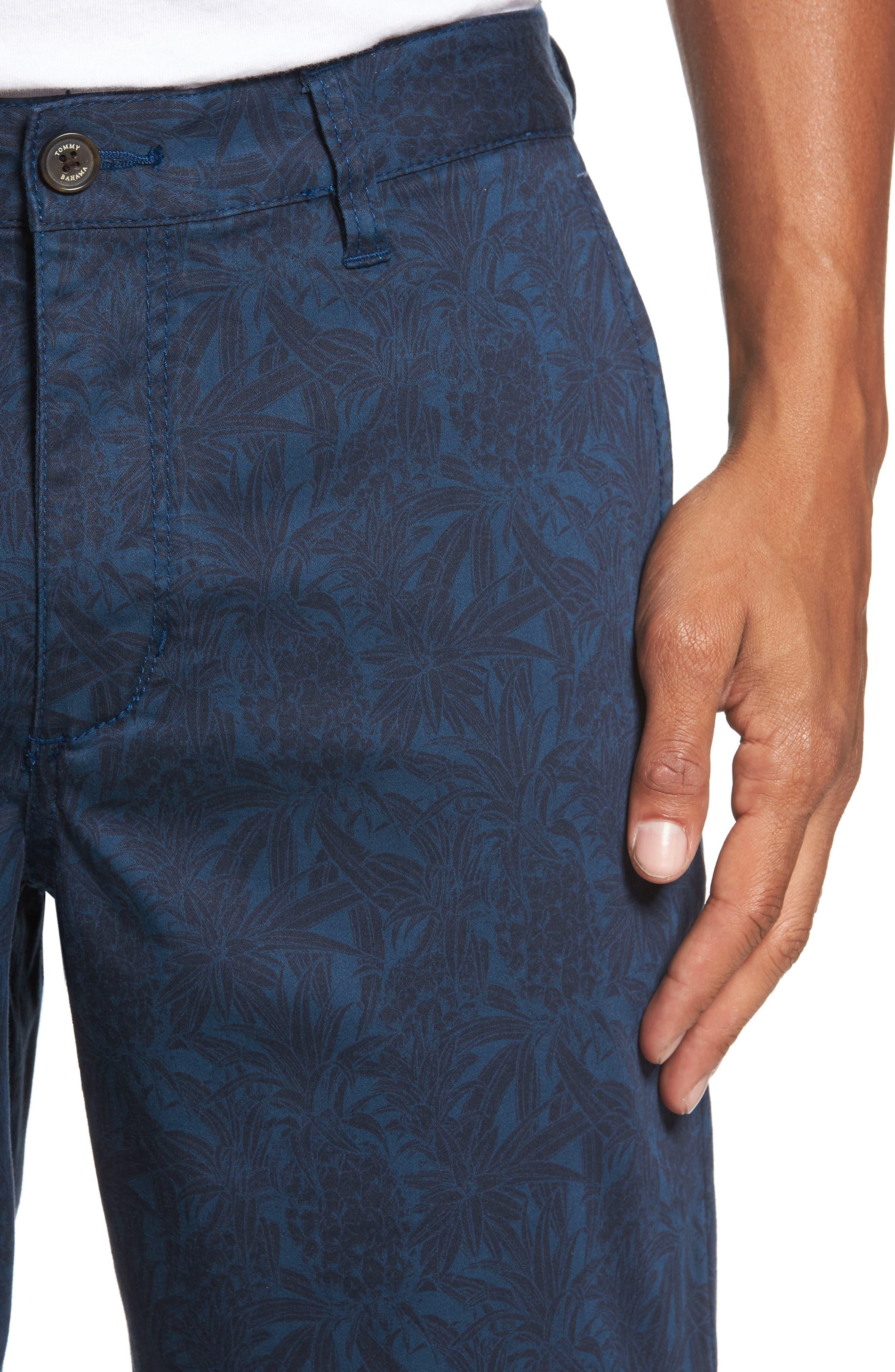 Camo Tropic Standard Fit Chino Shorts,                             Alternate thumbnail 8, color,