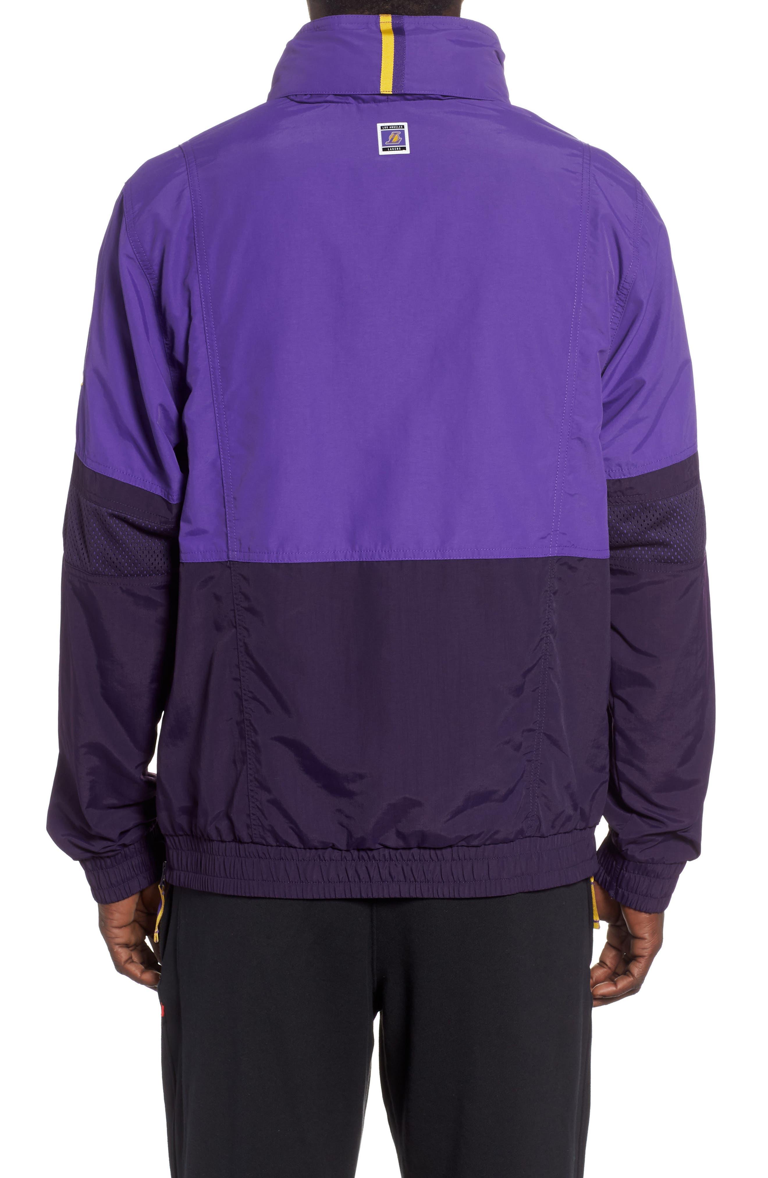 Los Angeles Lakers Courtside Warm-Up Jacket,                             Alternate thumbnail 2, color,                             FIELD PURPLE/PURPLE/ AMARILLO