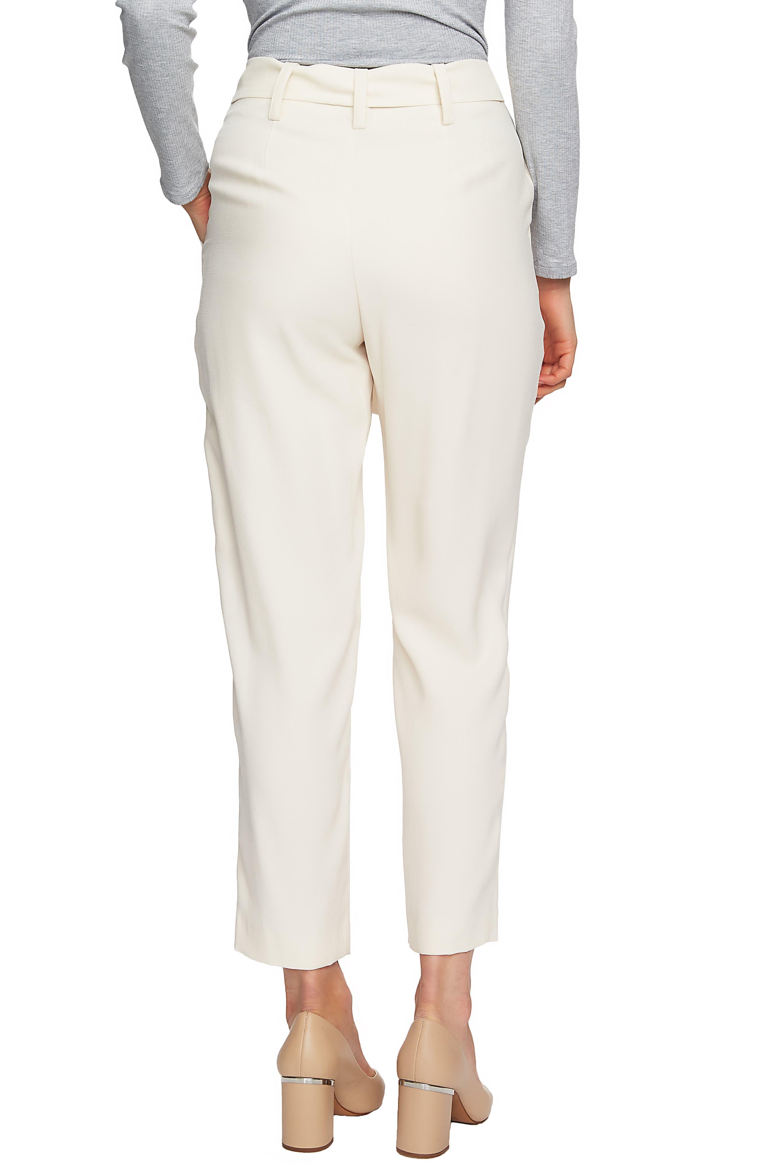 1.STATE,                             Flat Front Tie Waist Slim Pants,                             Alternate thumbnail 2, color,                             116