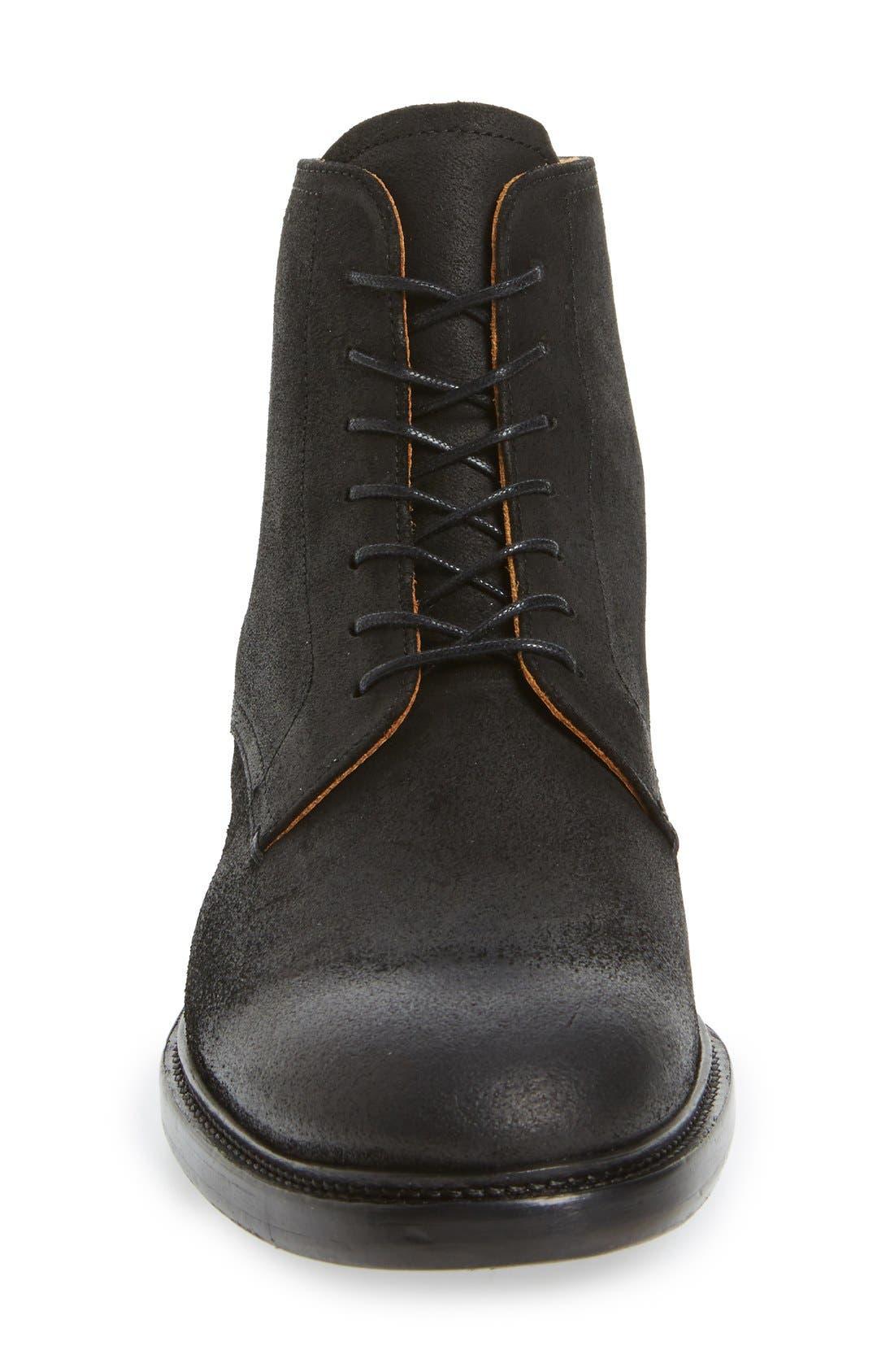 'Sorem' Plain-Toe Derby Boot,                             Alternate thumbnail 4, color,                             001