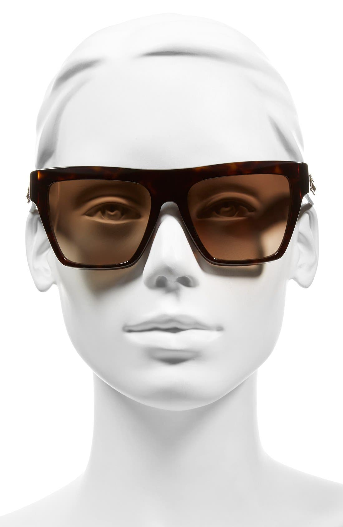 55mm Studded Navigator Sunglasses,                             Alternate thumbnail 5, color,