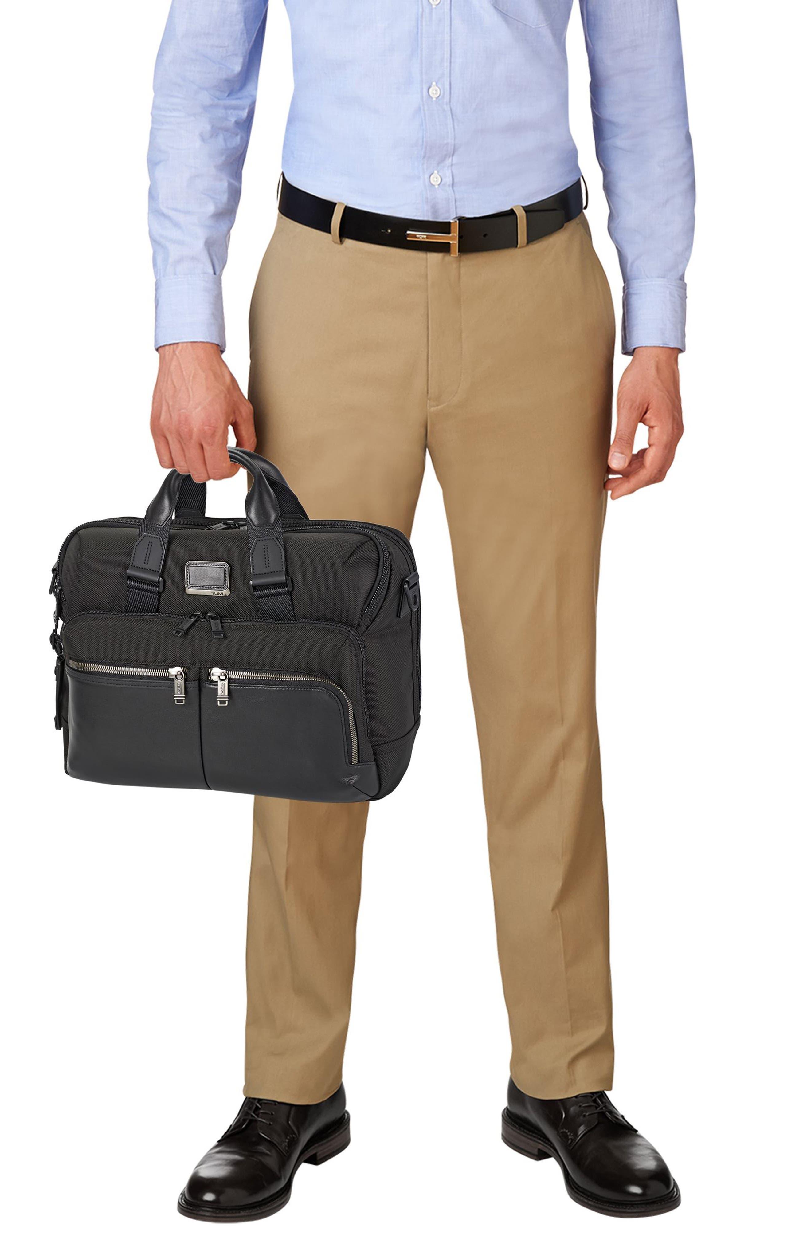 Alpha Bravo - Patterson Briefcase,                             Alternate thumbnail 6, color,                             BLACK