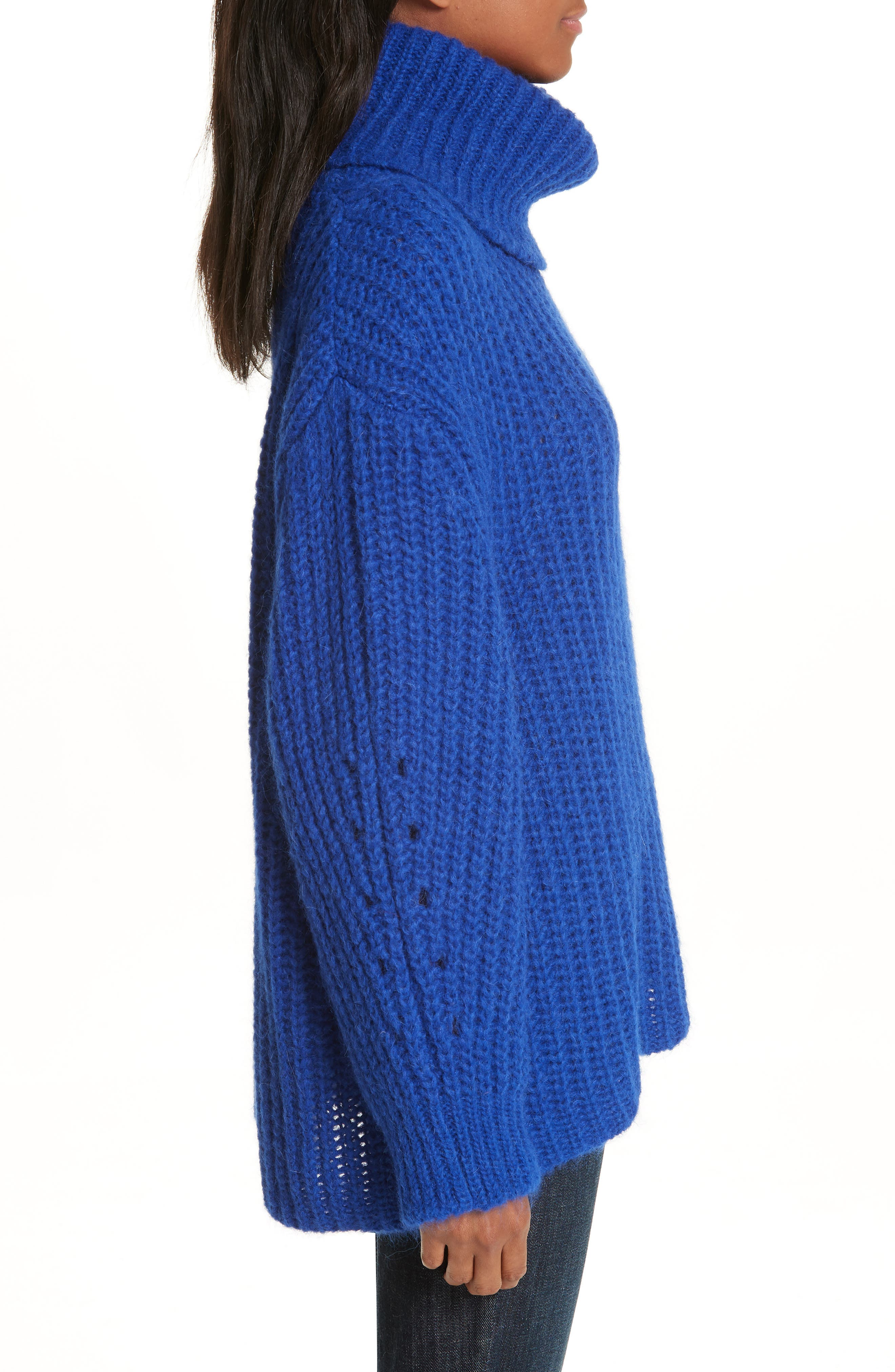 Emera Turtleneck Sweater,                             Alternate thumbnail 3, color,                             BLUE