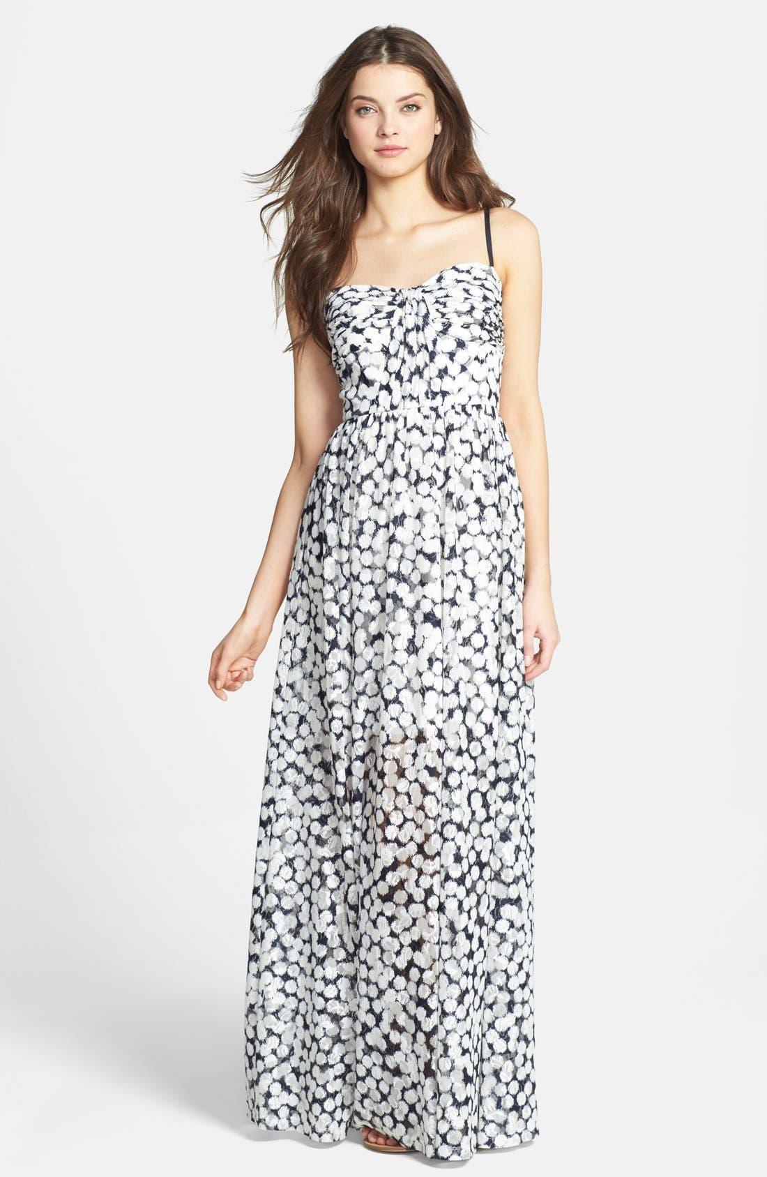 Print Knit Maxi Dress,                         Main,                         color, 480