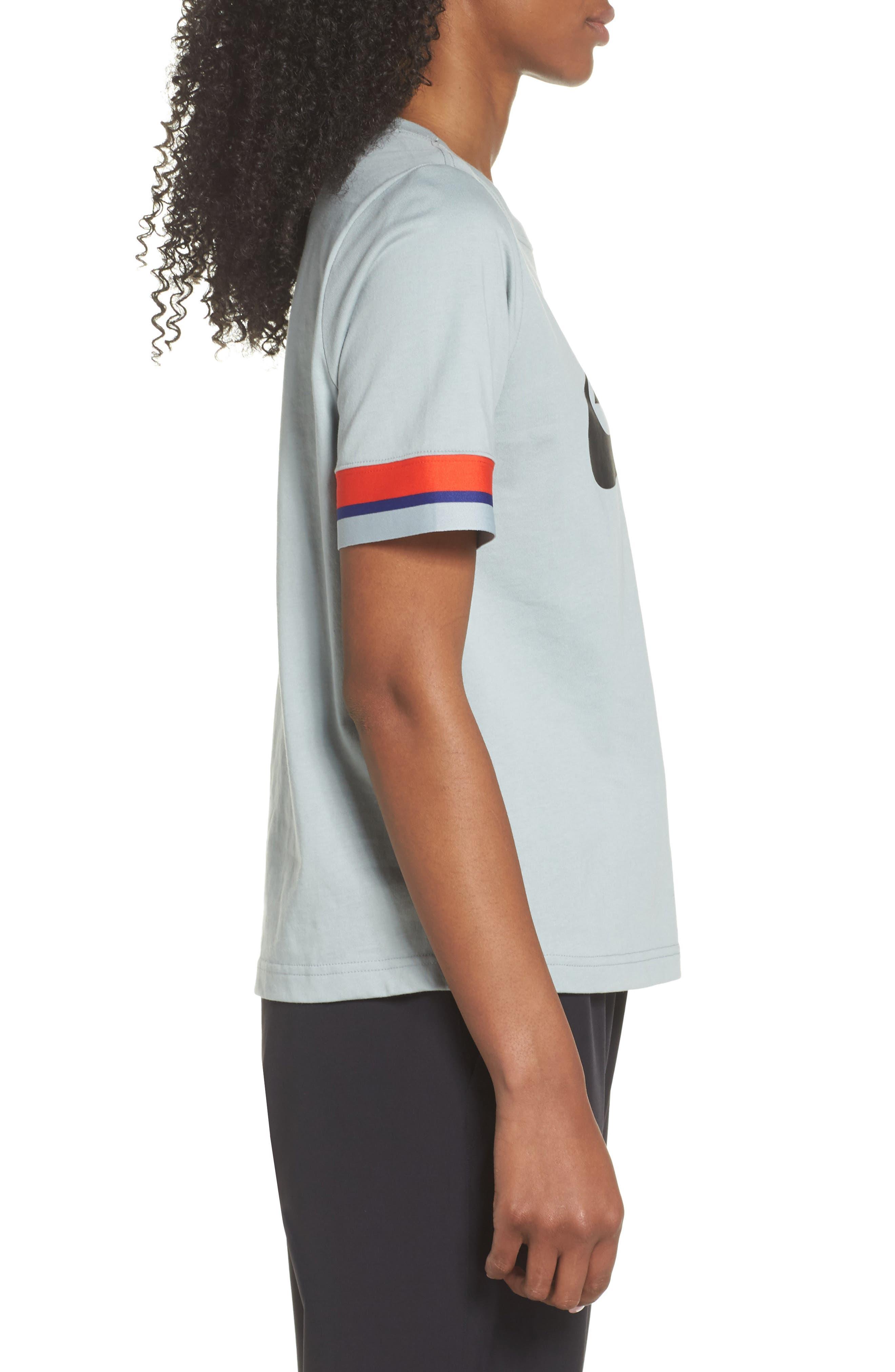 Sportswear Stripe Sleeve Tee,                             Alternate thumbnail 3, color,                             020