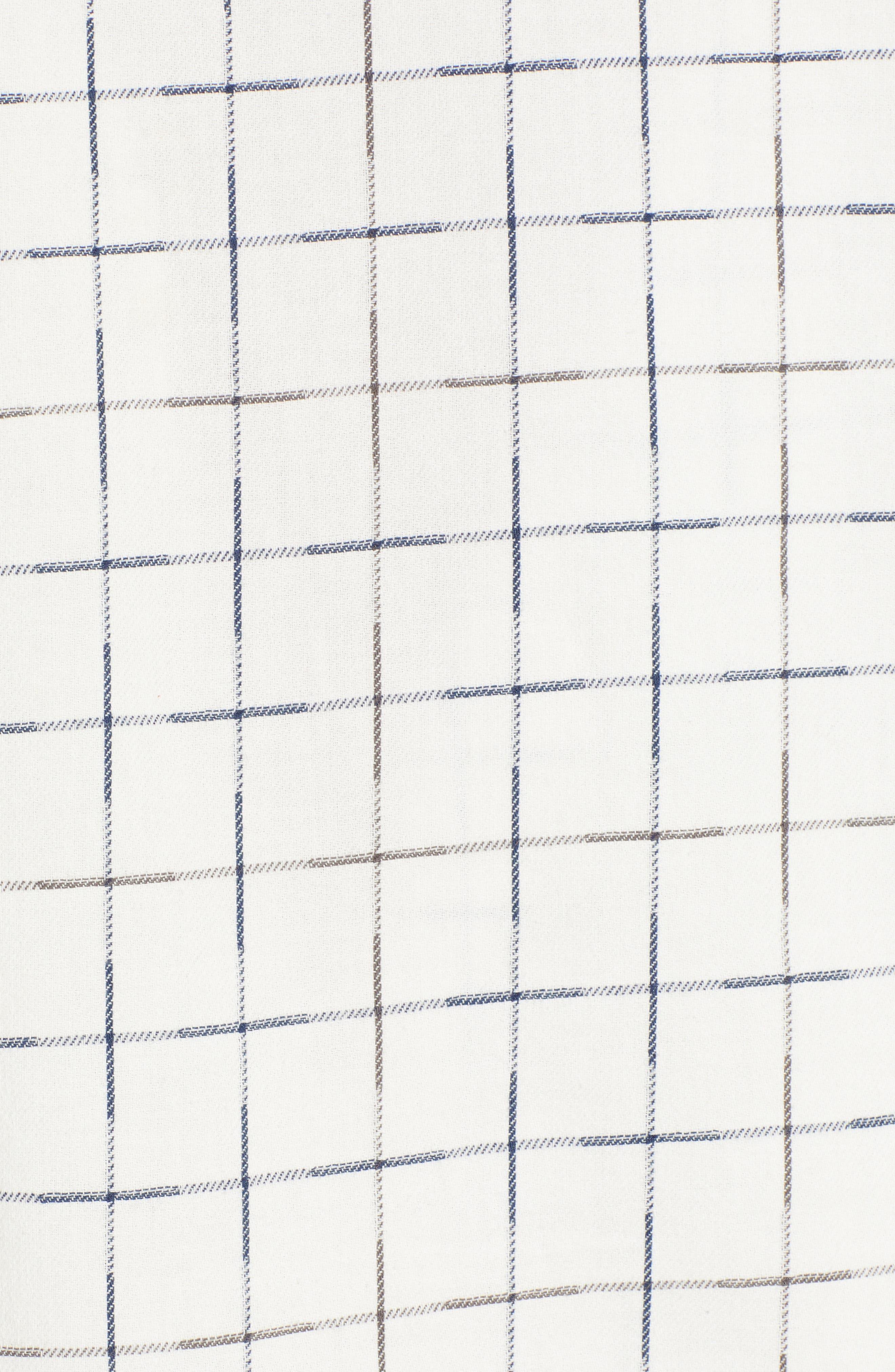 Check Flannel Shirt,                             Alternate thumbnail 5, color,                             NAVY/ WHITE GRID