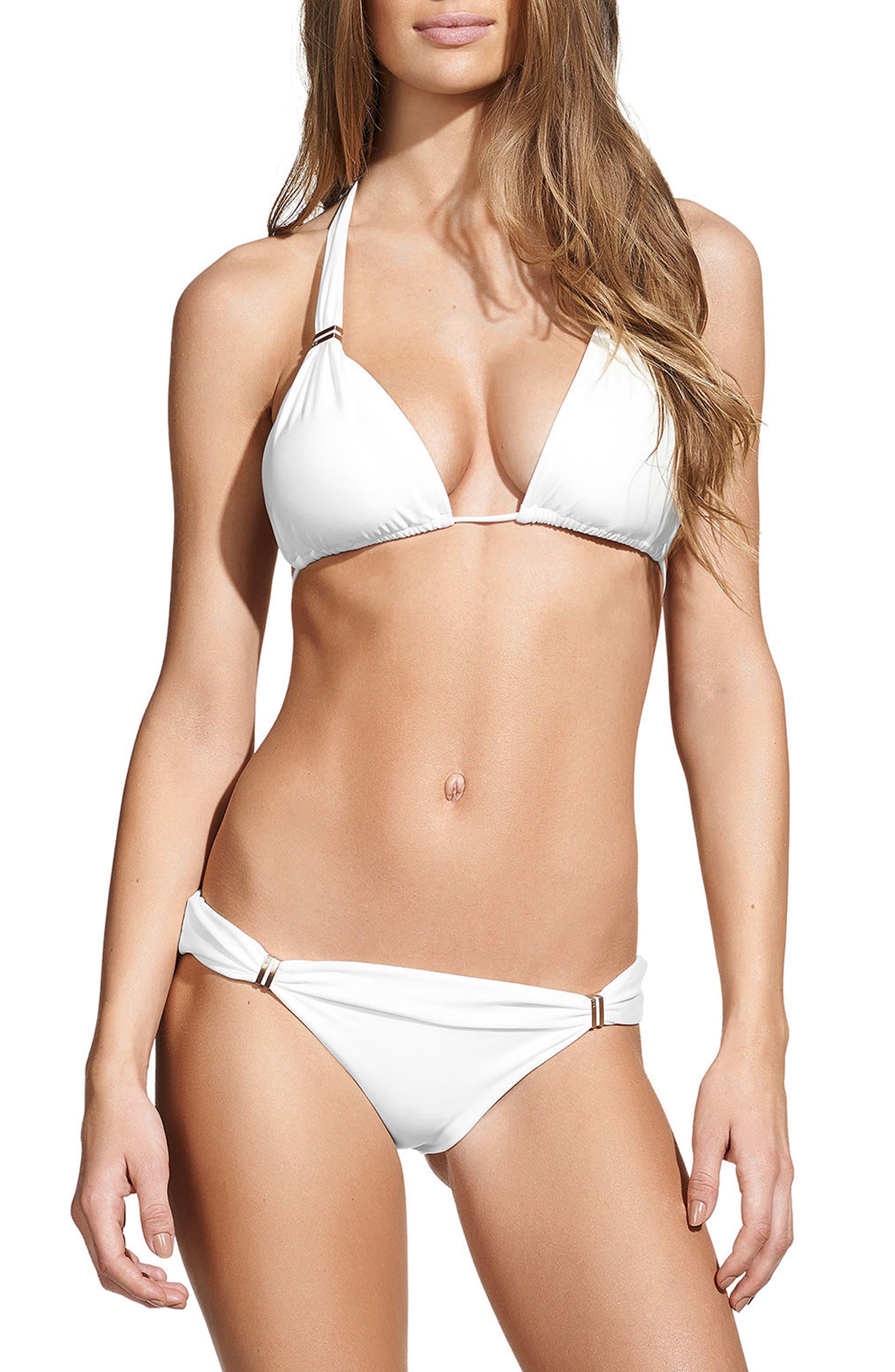 ViX White Bia Bikini Bottoms,                             Alternate thumbnail 3, color,                             WHITE