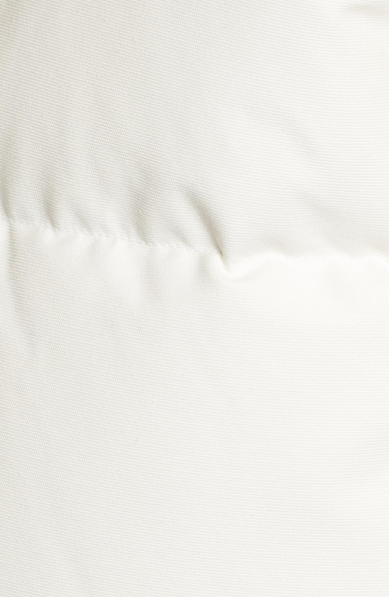 Genuine Fox Fur Trim Hooded Down Coat,                             Alternate thumbnail 6, color,                             SNOW WHITE/ BLACK FUR