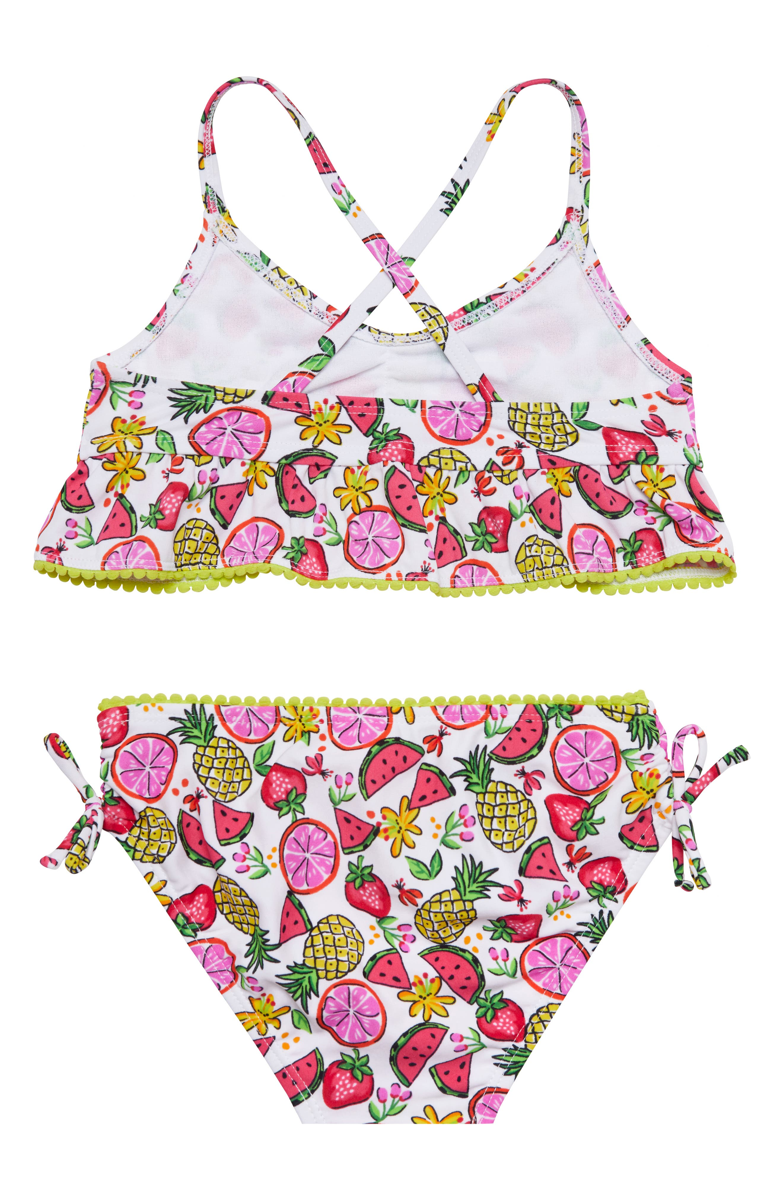 Fruity Floral Two-Piece Swimsuit,                             Alternate thumbnail 2, color,                             115