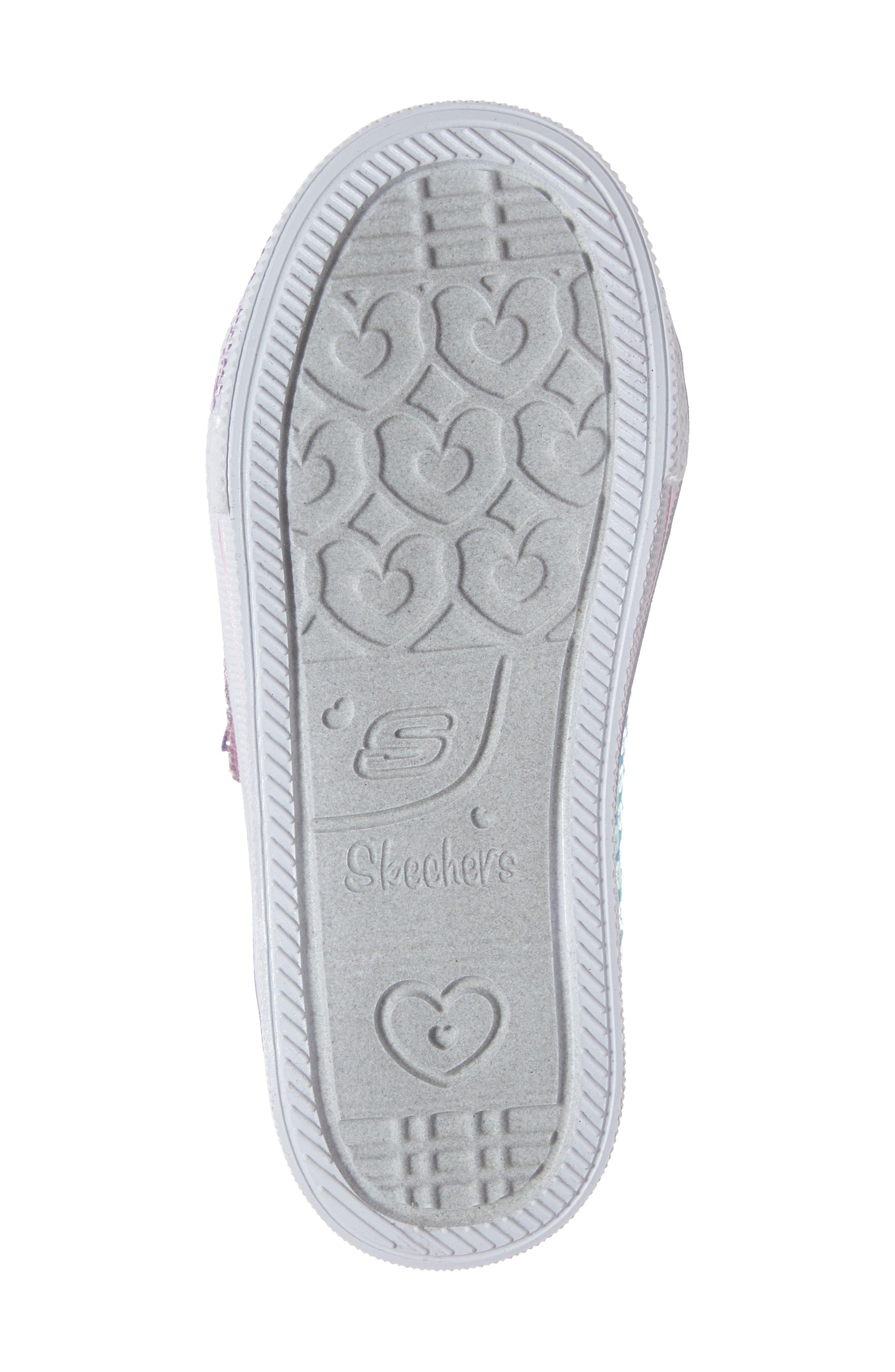 Shuffle Lite Glitter Sneaker,                             Alternate thumbnail 6, color,                             TURQUOISE/MULTI